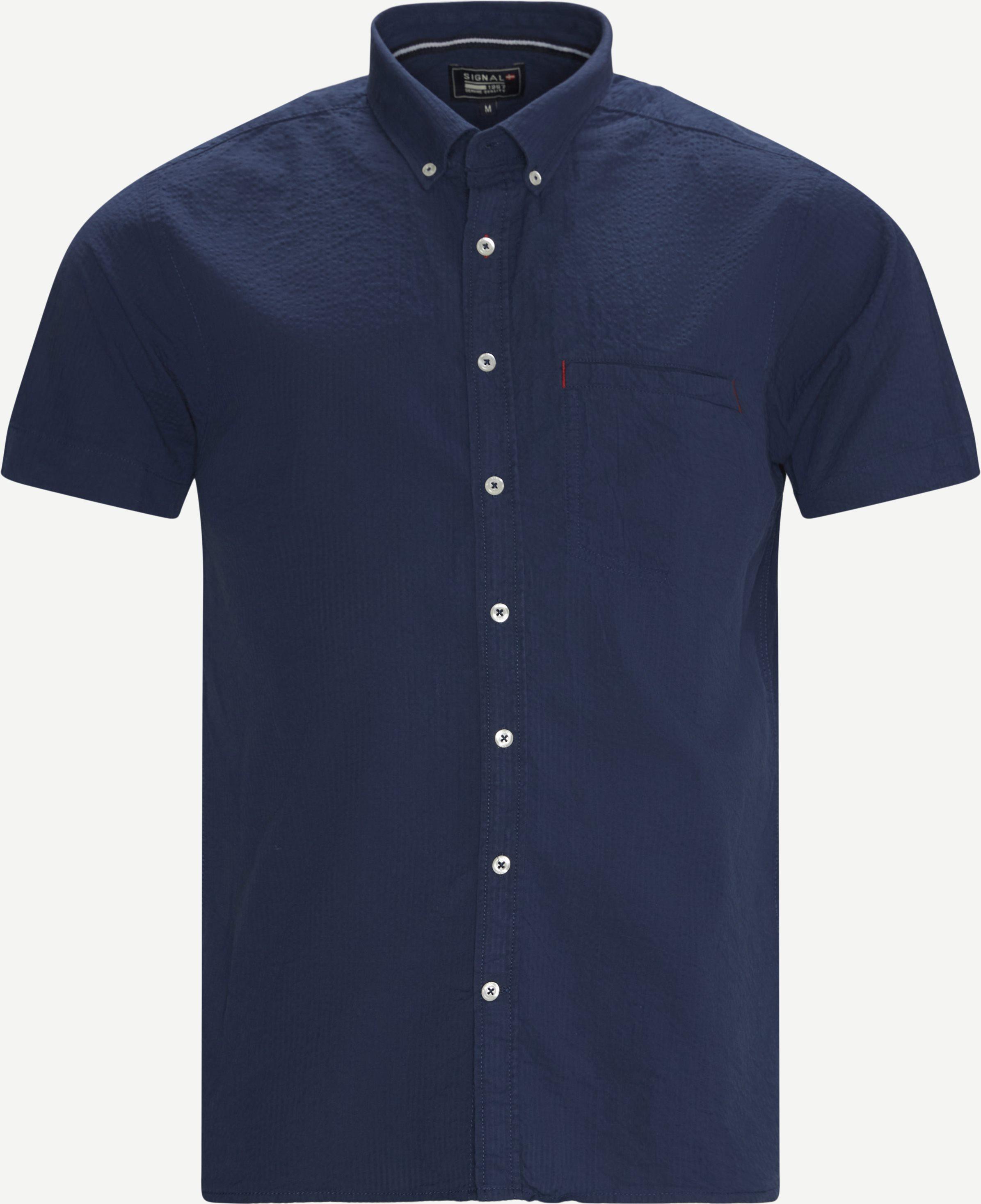 Kurzärmlige Hemden - Blau