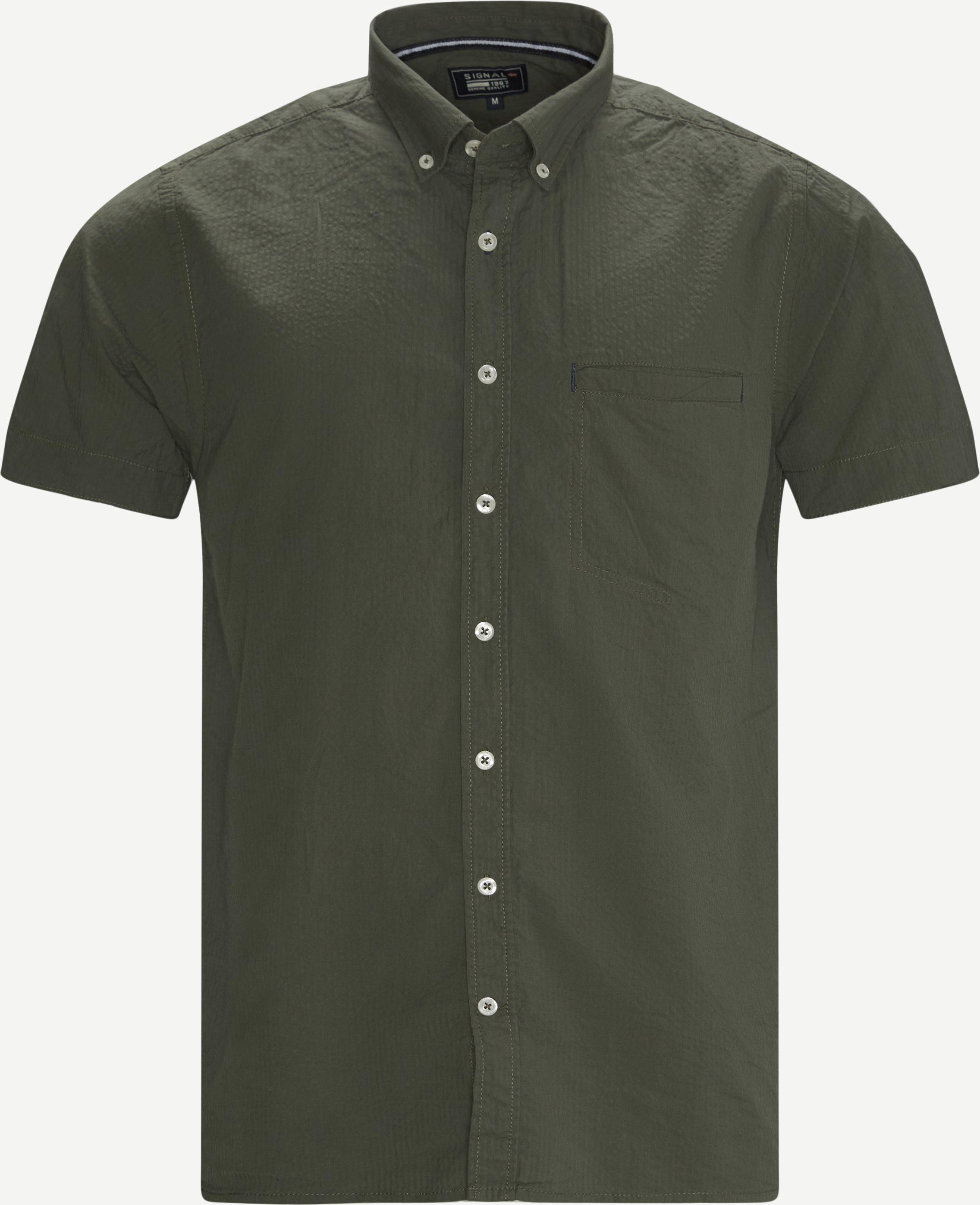 Kurzärmlige Hemden - Grün