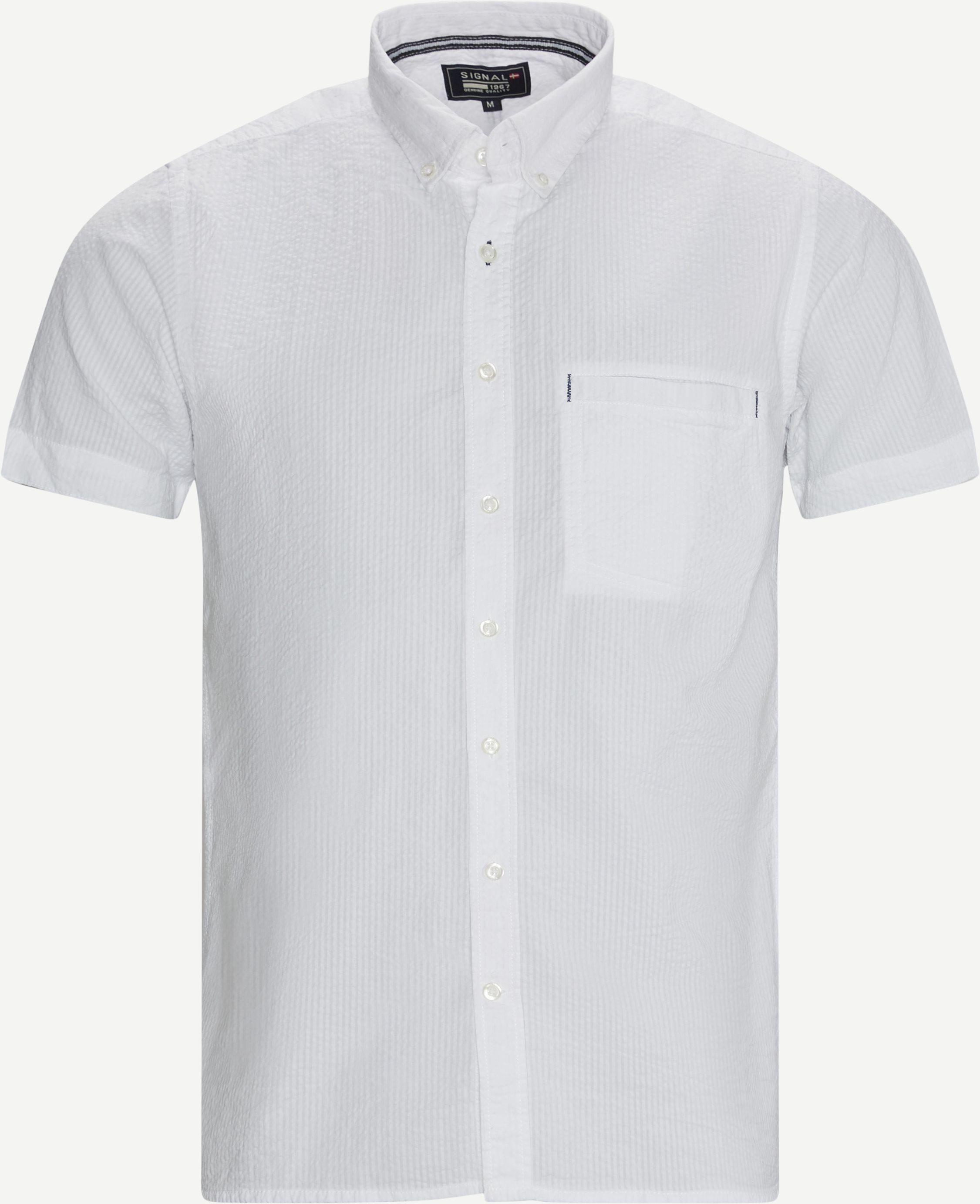 Kortærmet Skjorte - Kortærmede skjorter - Casual fit - Hvid