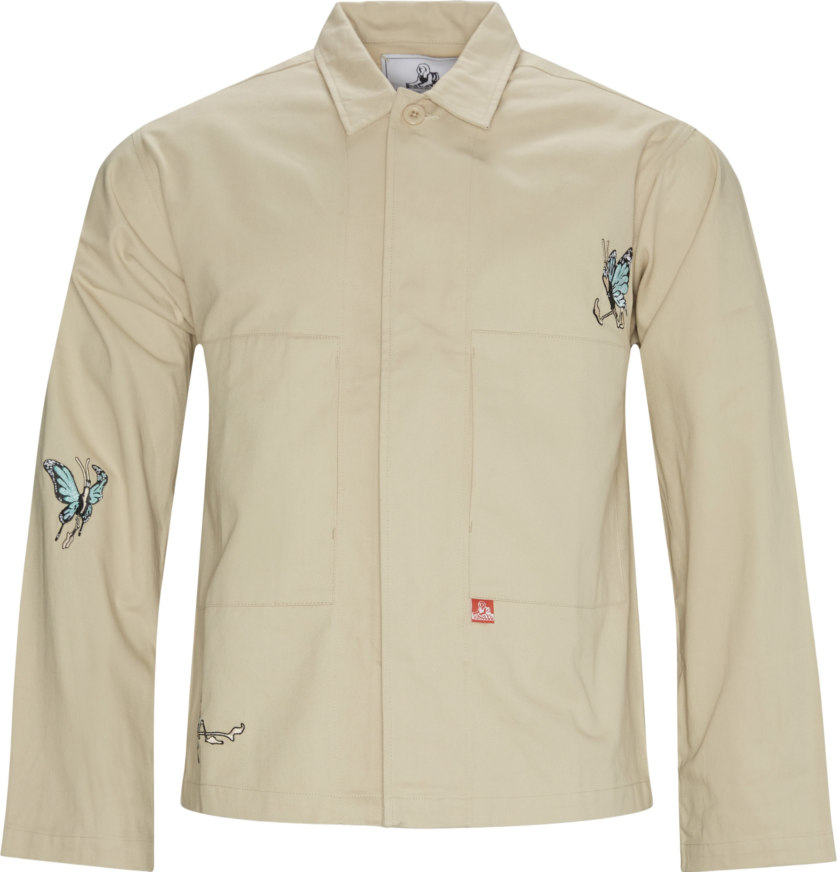 Butterfly Overshirt - Jakker - Regular fit - Sand