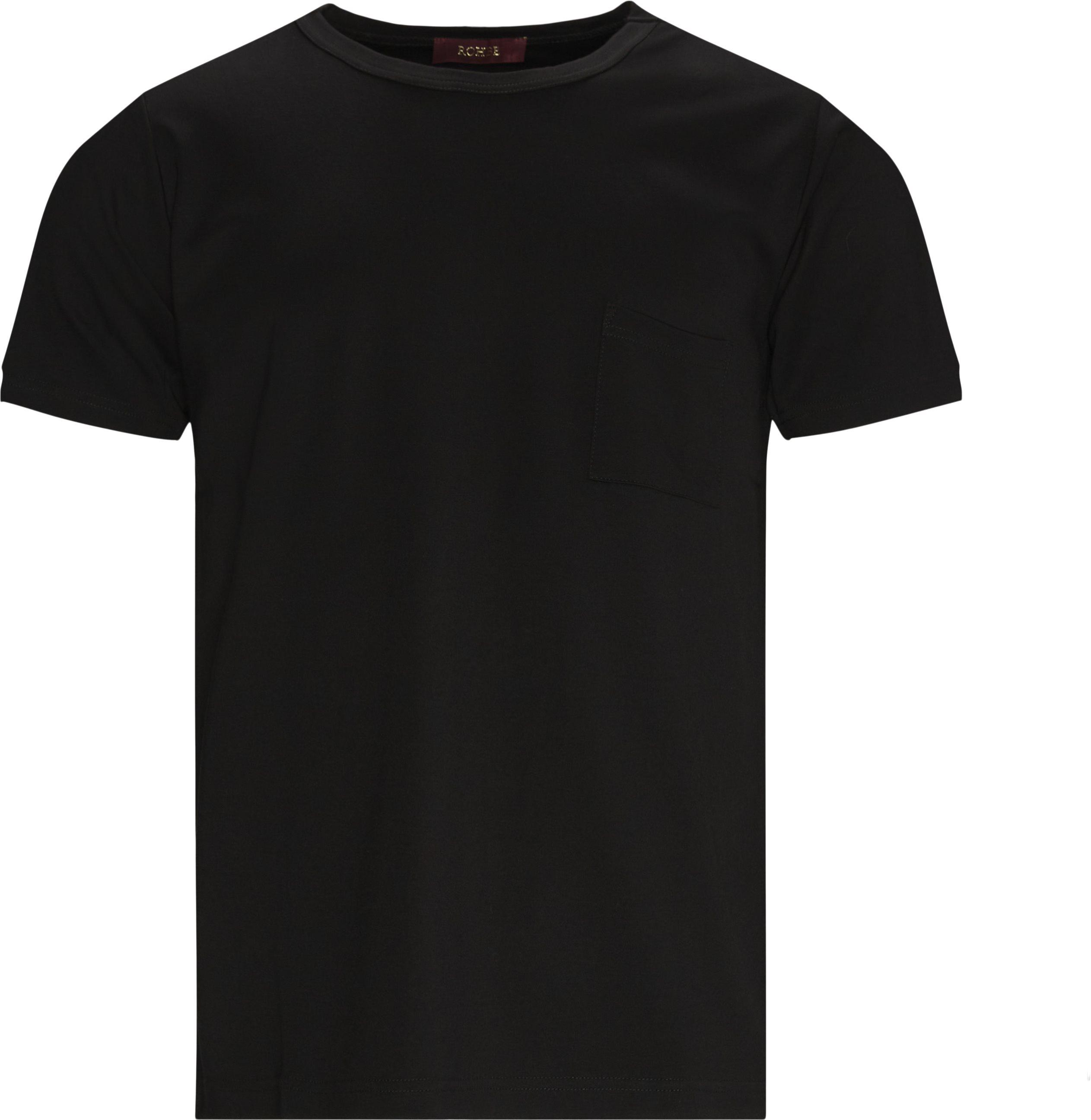 Justin Tee - T-shirts - Regular fit - Sort