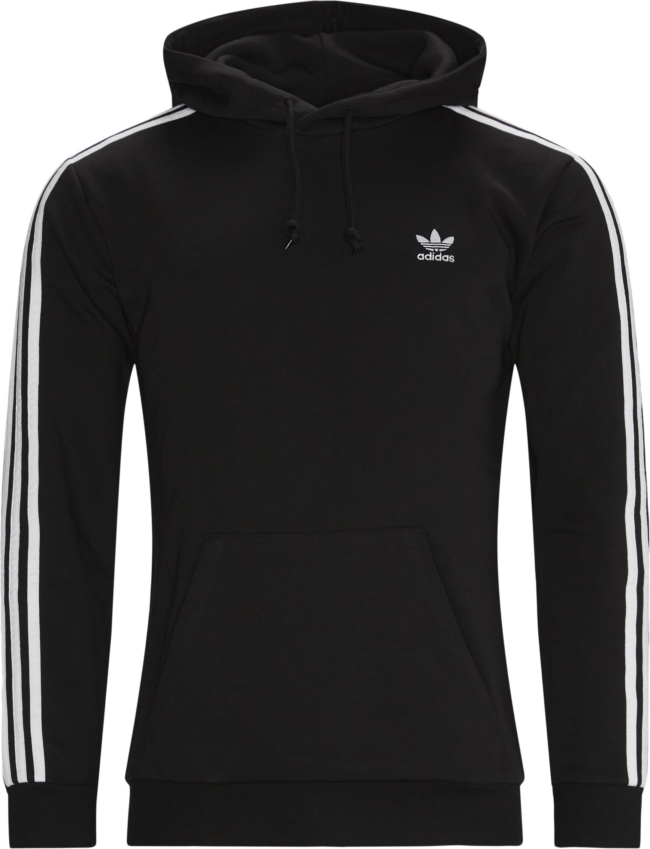 Classic 3-stripes Hoodie - Sweatshirts - Regular fit - Sort