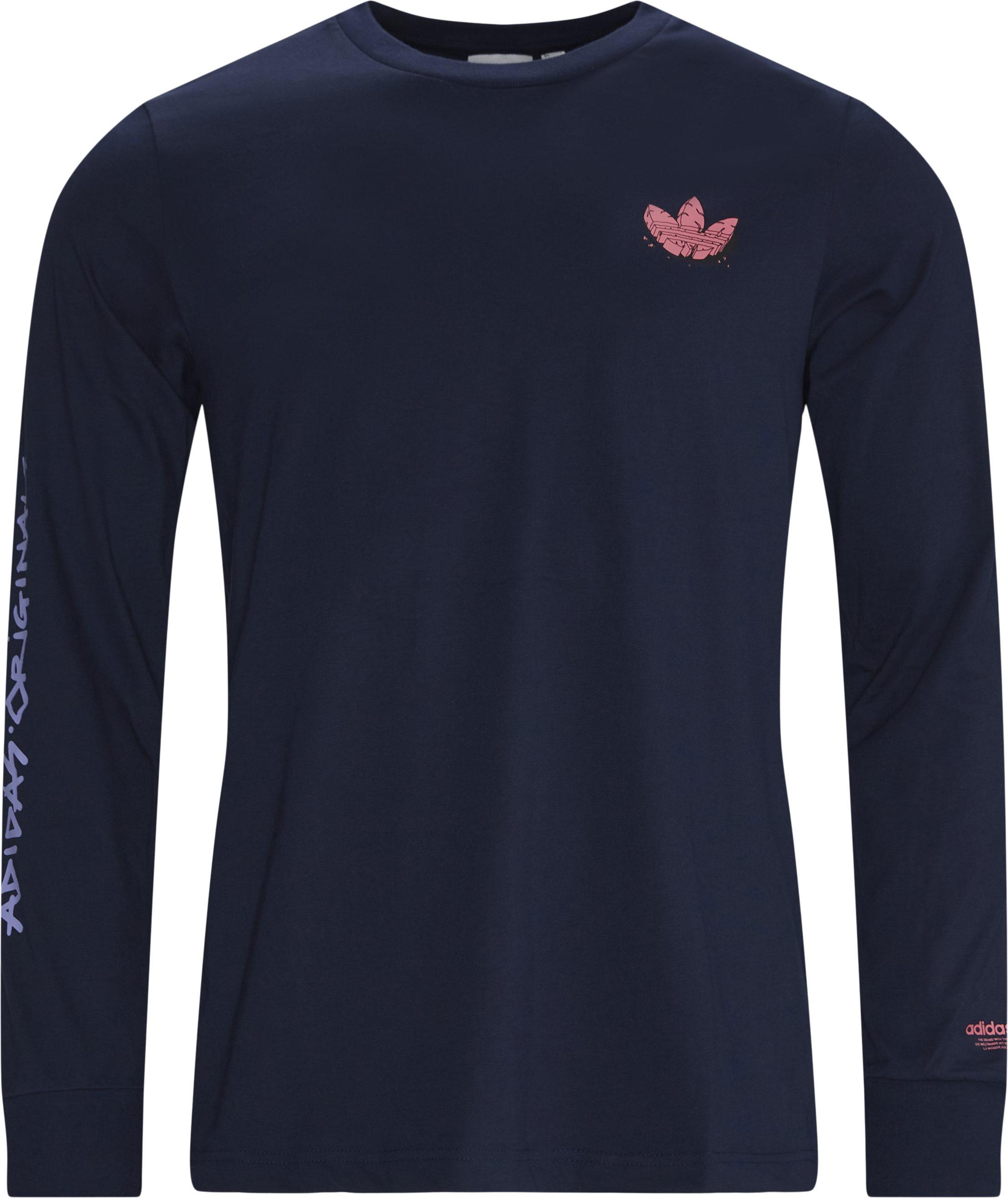 LS Logo Tee - T-shirts - Regular fit - Blå