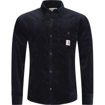 Flint L/æ Skjorte Regular fit   Flint L/æ Skjorte   Blå