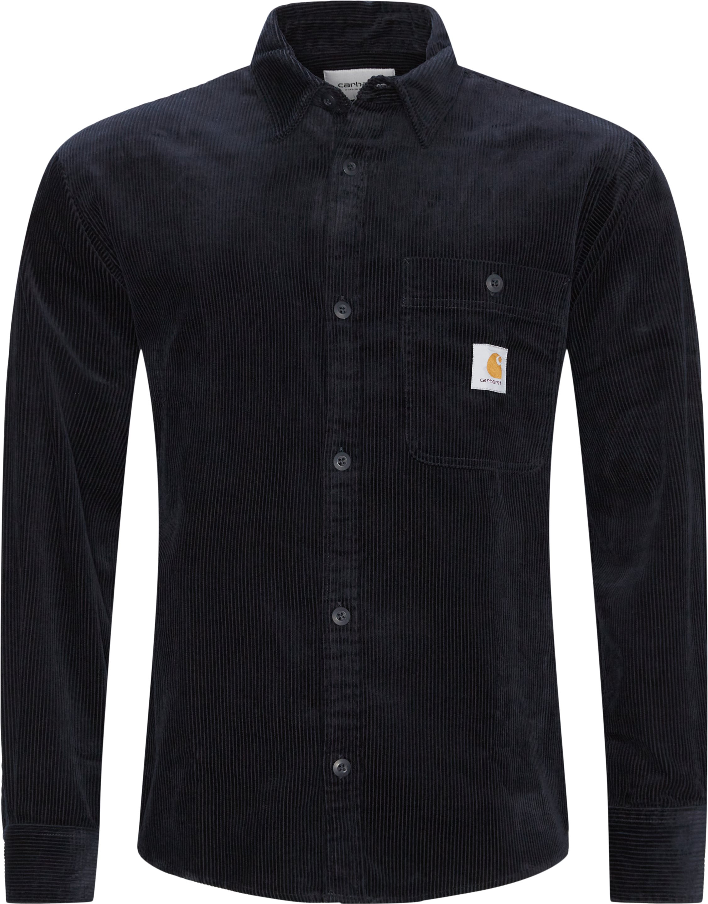 Flint L/æ Skjorte - Skjortor - Regular fit - Blå