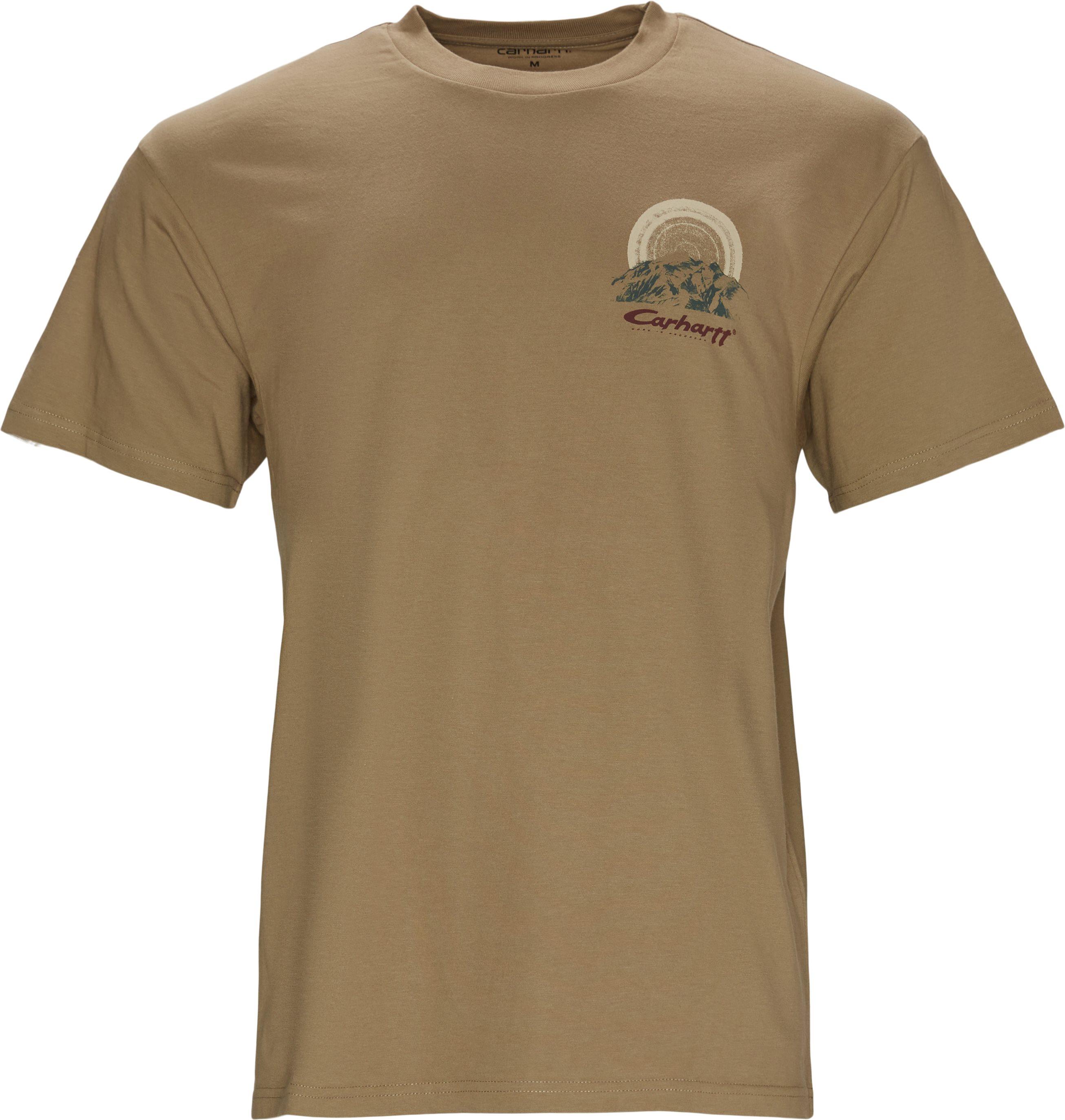 Mountain Tee - T-shirts - Regular fit - Sand