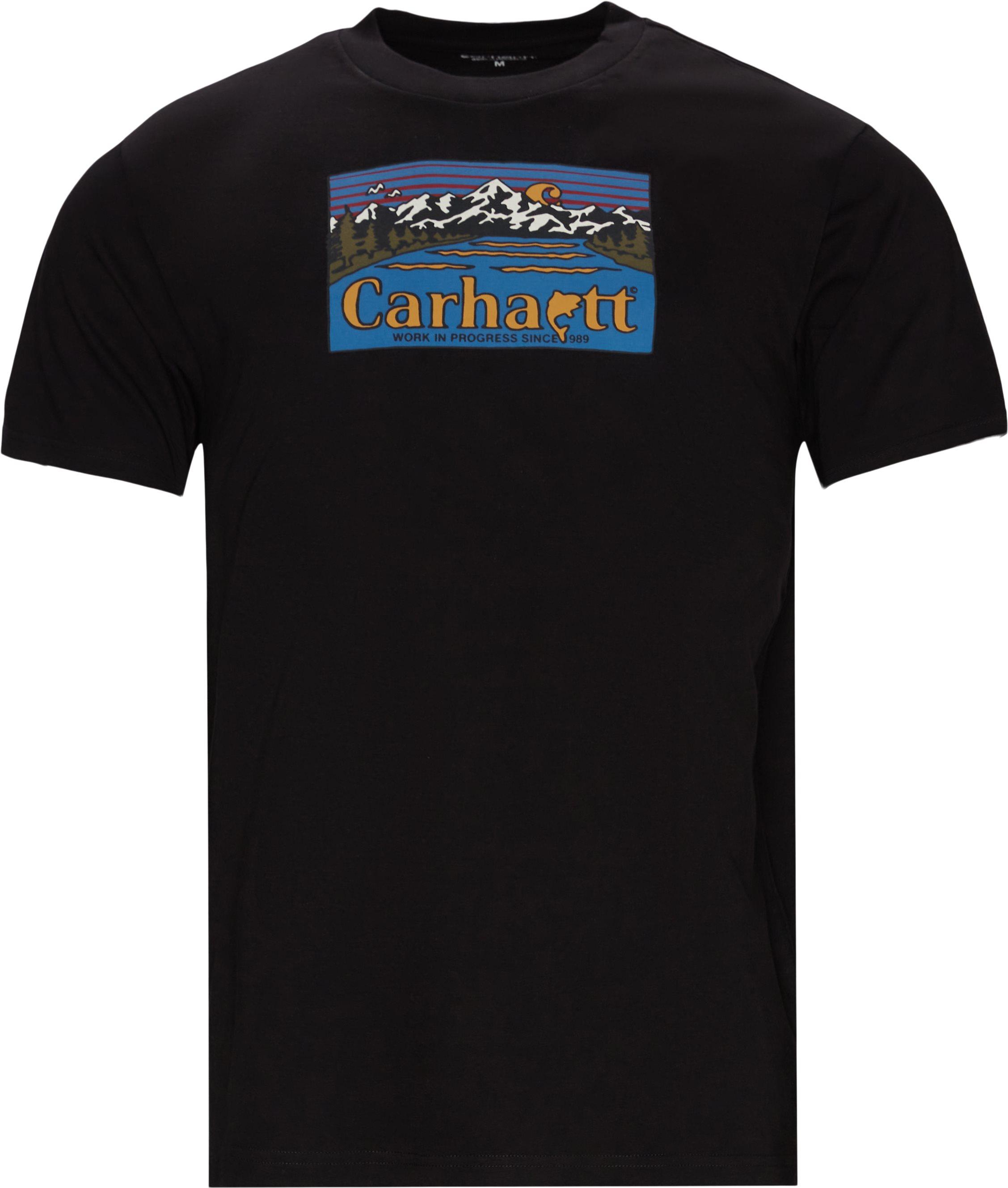 Great Outdoors Tee - T-shirts - Regular fit - Svart