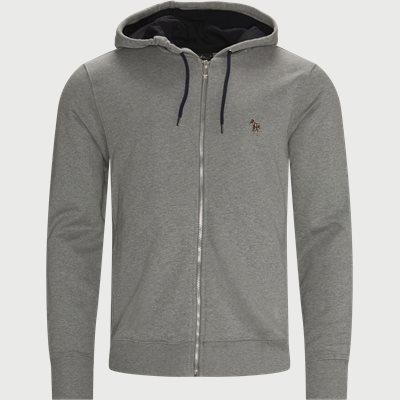 Fzebra Hooded Zip Sweatshirt Regular fit | Fzebra Hooded Zip Sweatshirt | Grå