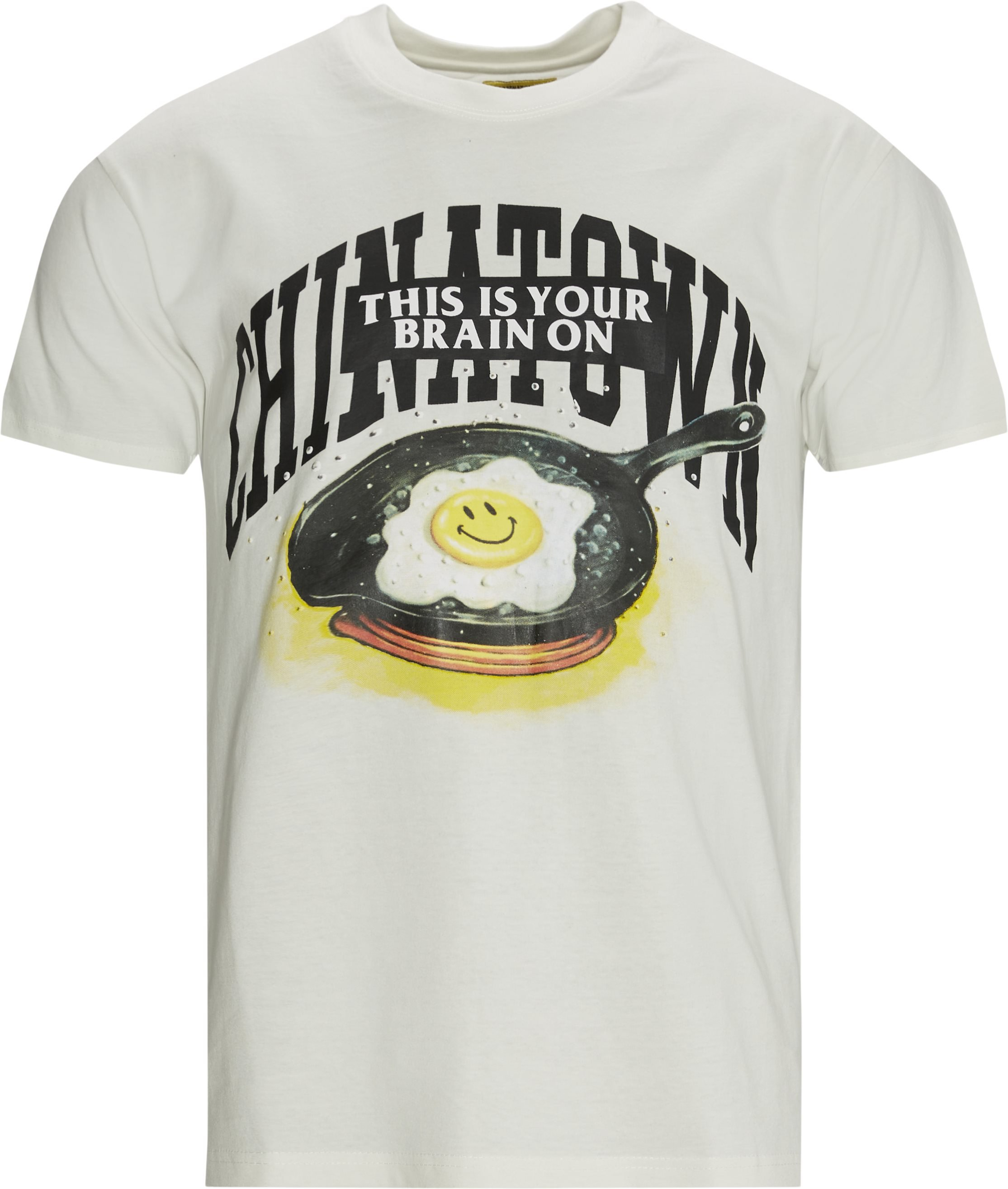SMILEY BRAIN ON FRIED t-shirt - T-shirts - Regular fit - Sand