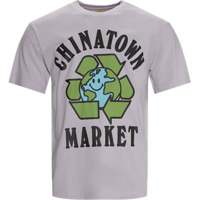 RECYCLE GLOBAL t-shirt Regular fit | RECYCLE GLOBAL t-shirt | Lilla