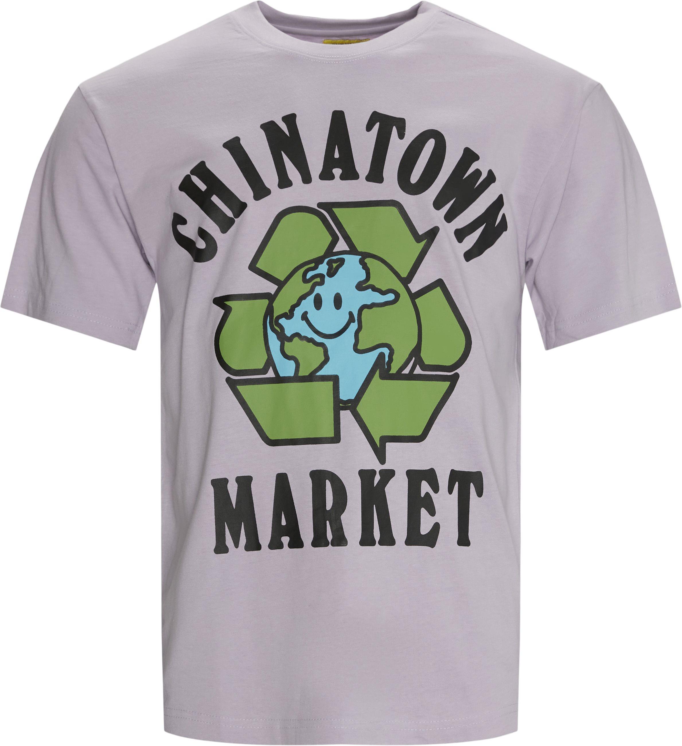 RECYCLE GLOBAL t-shirt - T-shirts - Regular fit - Lilla