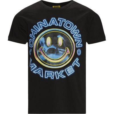 SMILEY VAPOR WAVE T-shirt Regular fit | SMILEY VAPOR WAVE T-shirt | Sort