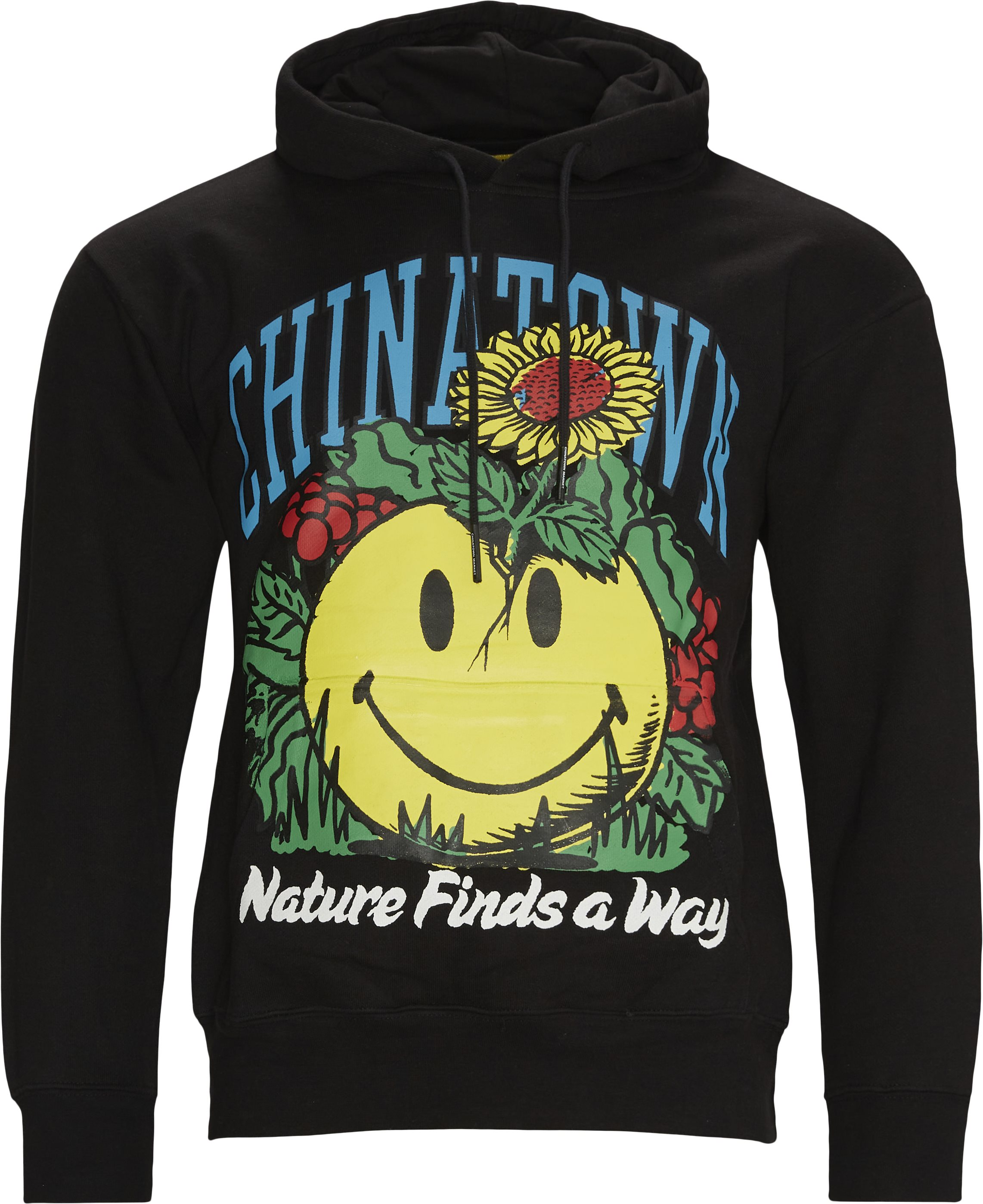 Smiley Planter Hoodie - Sweatshirts - Regular fit - Sort