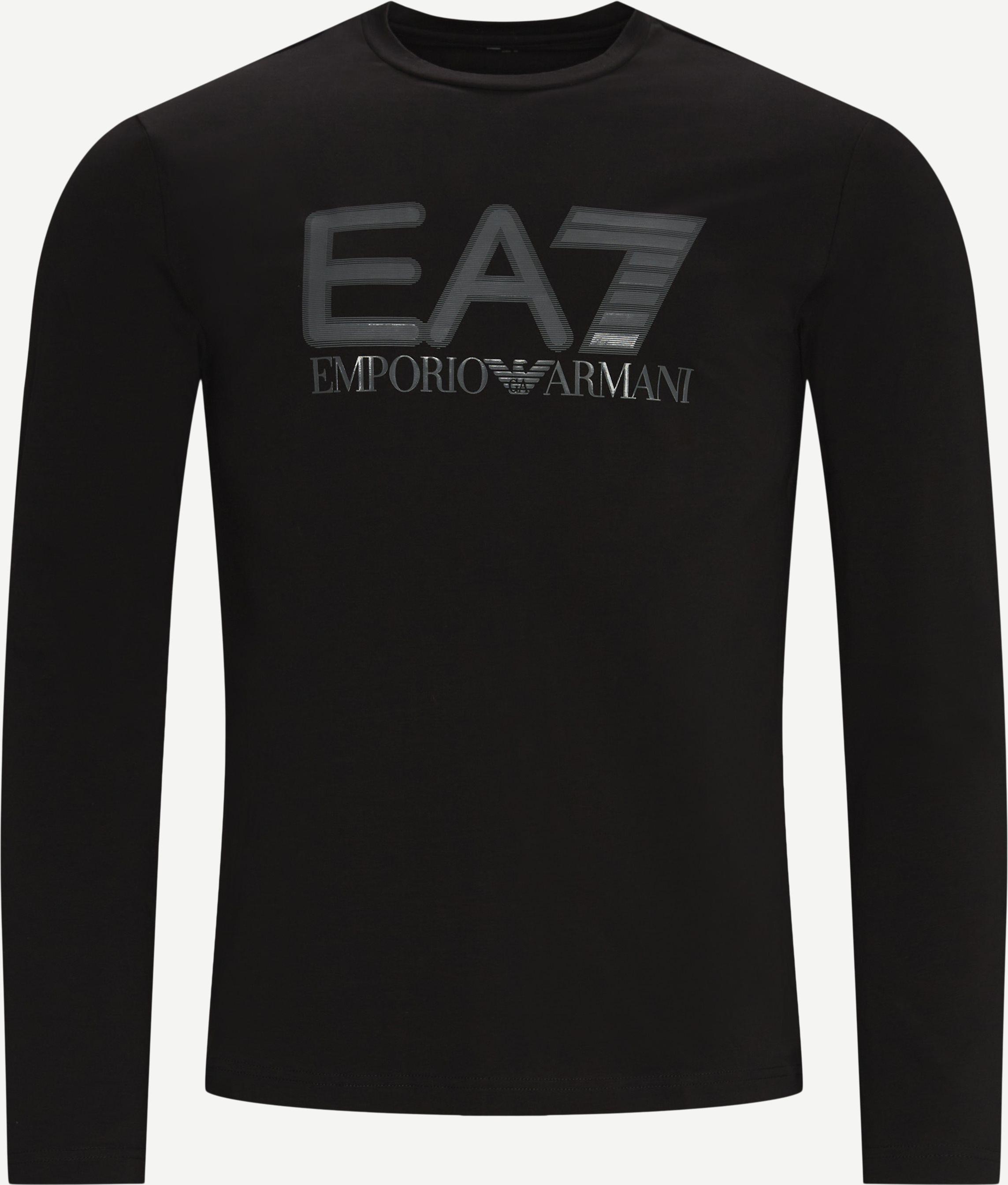 PJ03Z Logo langærmet T-shirt - T-shirts - Regular fit - Sort