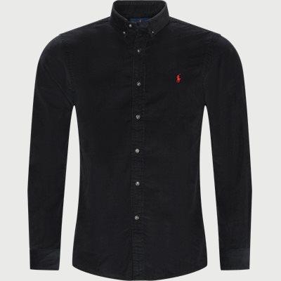 Fløjels Skjorte Slim fit | Fløjels Skjorte | Sort