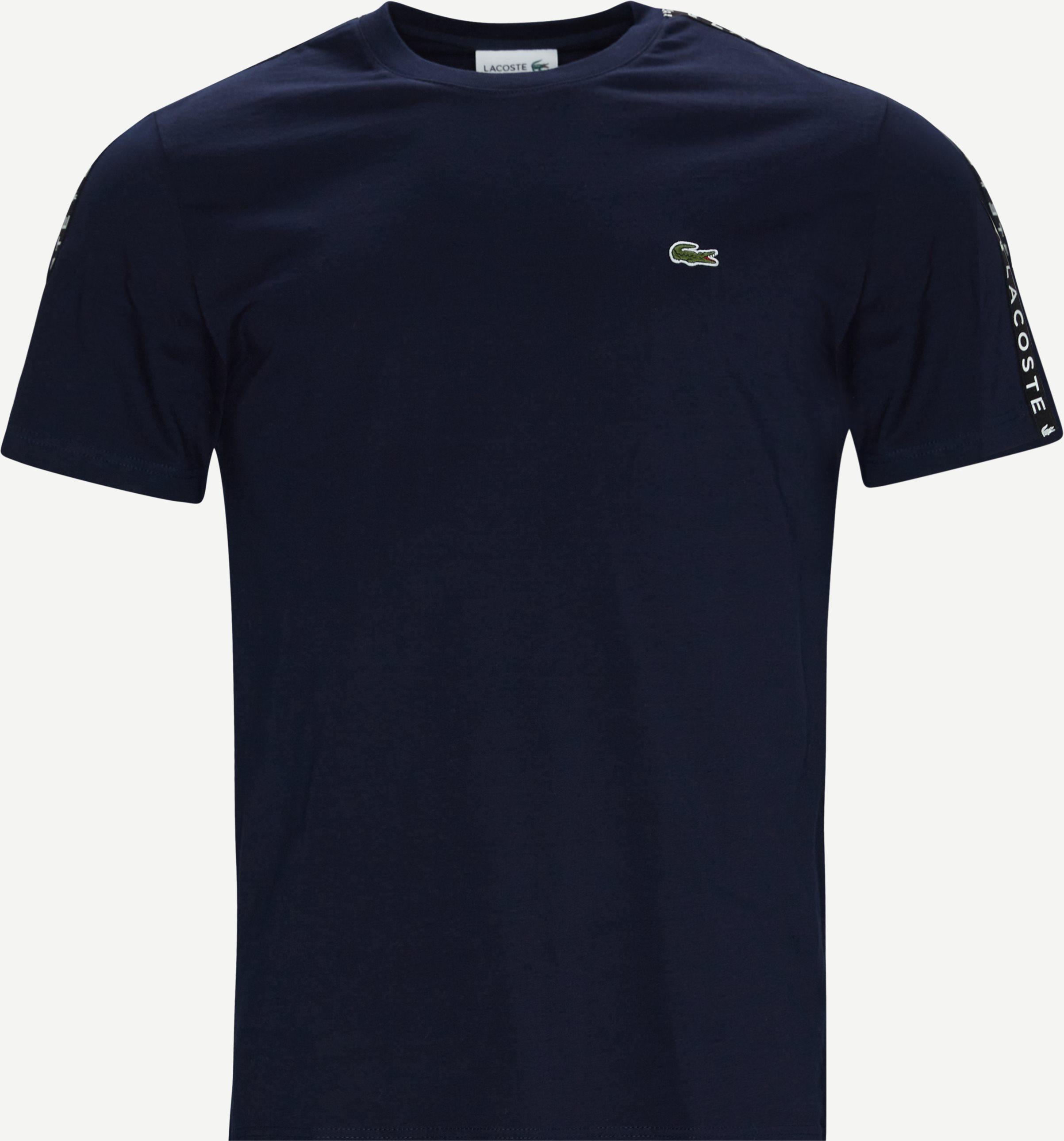 Logo Tee - T-shirts - Regular fit - Blå