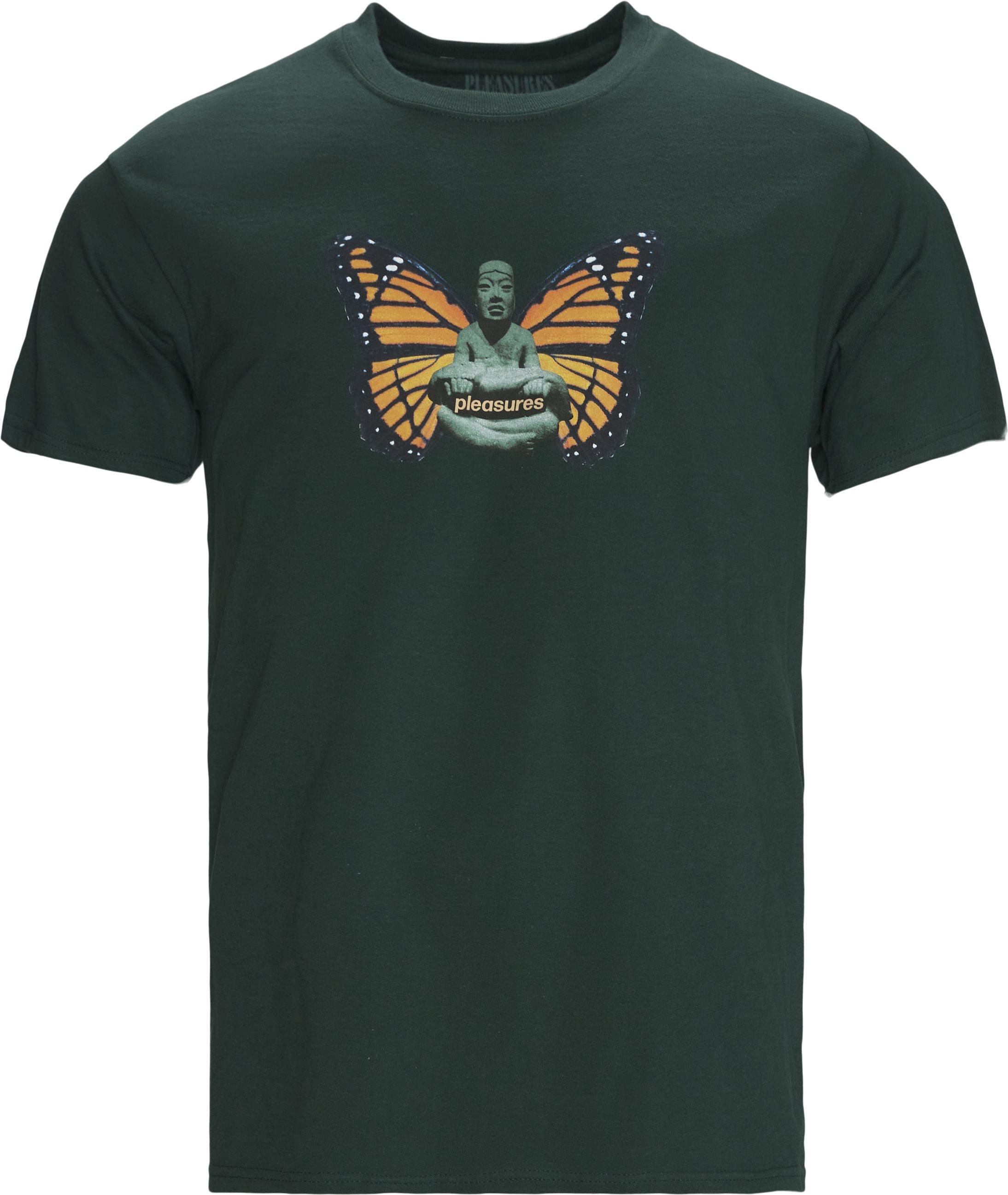 Meditate Tee - T-shirts - Regular fit - Grøn