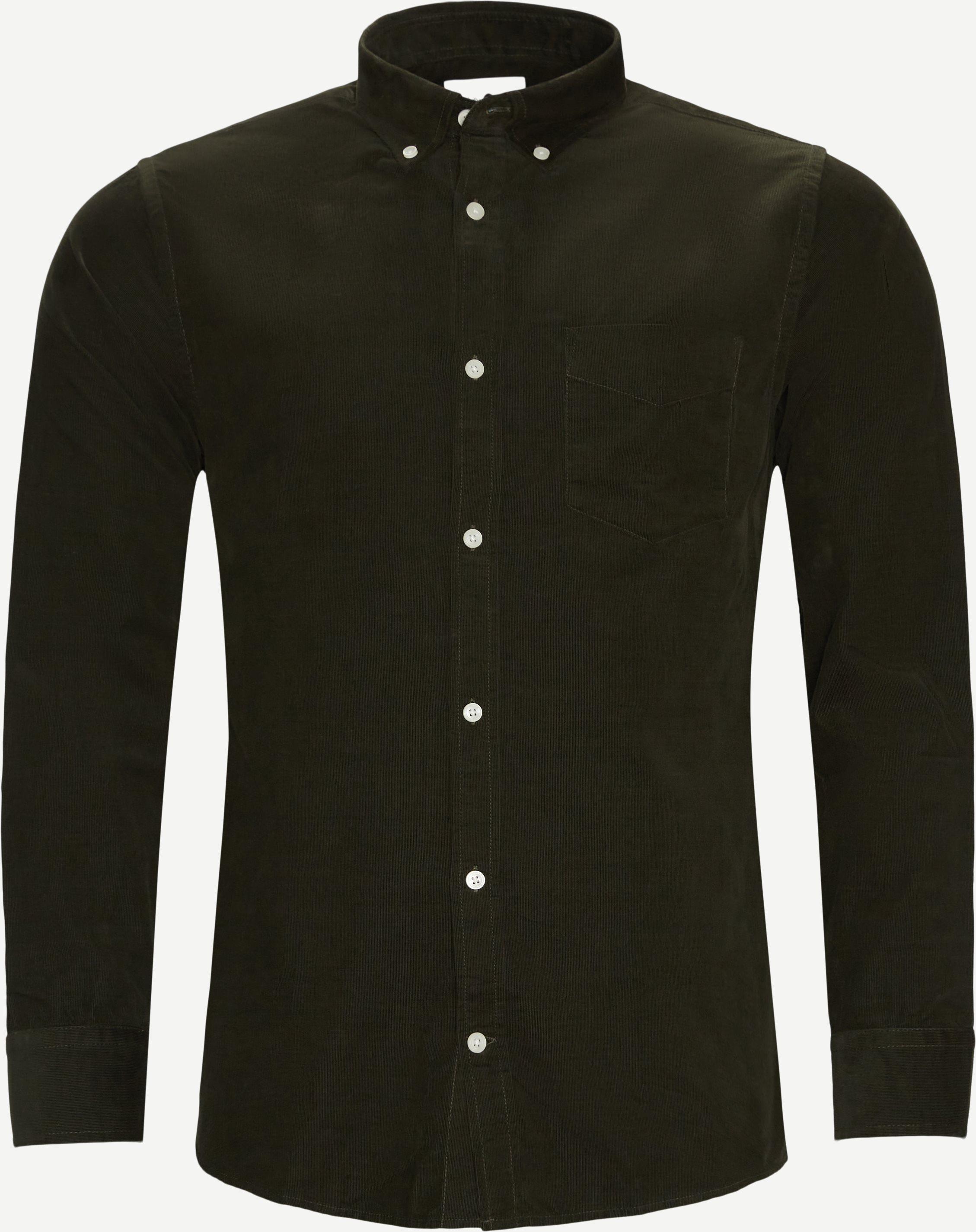 Levon Fløjels Skjorte - Skjorter - Regular fit - Army