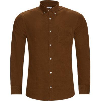 Levon Fløjels Skjorte Regular fit | Levon Fløjels Skjorte | Brun