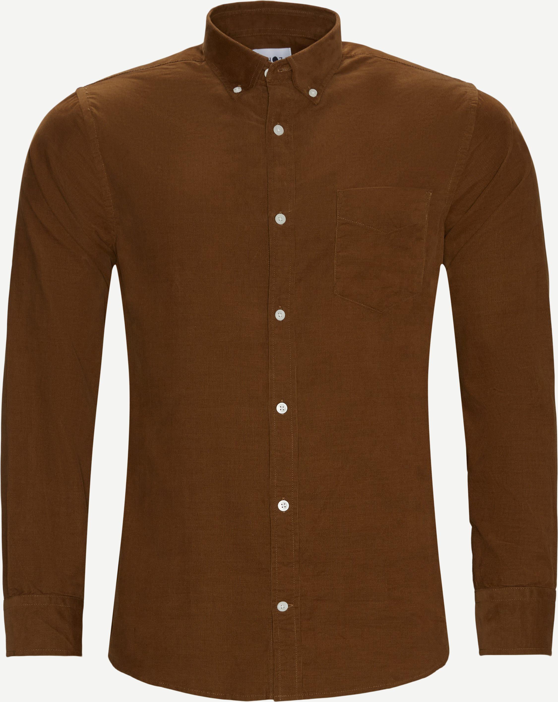 Levon Fløjels Skjorte - Skjorter - Regular fit - Brun