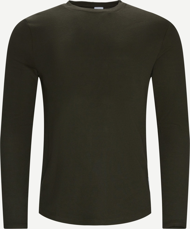 Clive Langærmet T-shirt - T-shirts - Regular fit - Army
