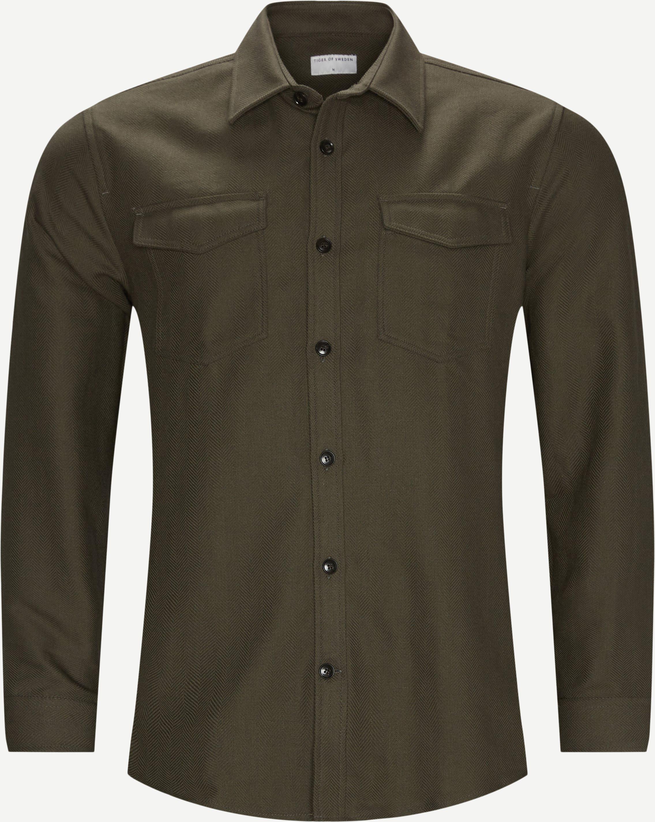 69391 Arnou Overshirt - Overshirts - Regular fit - Grøn