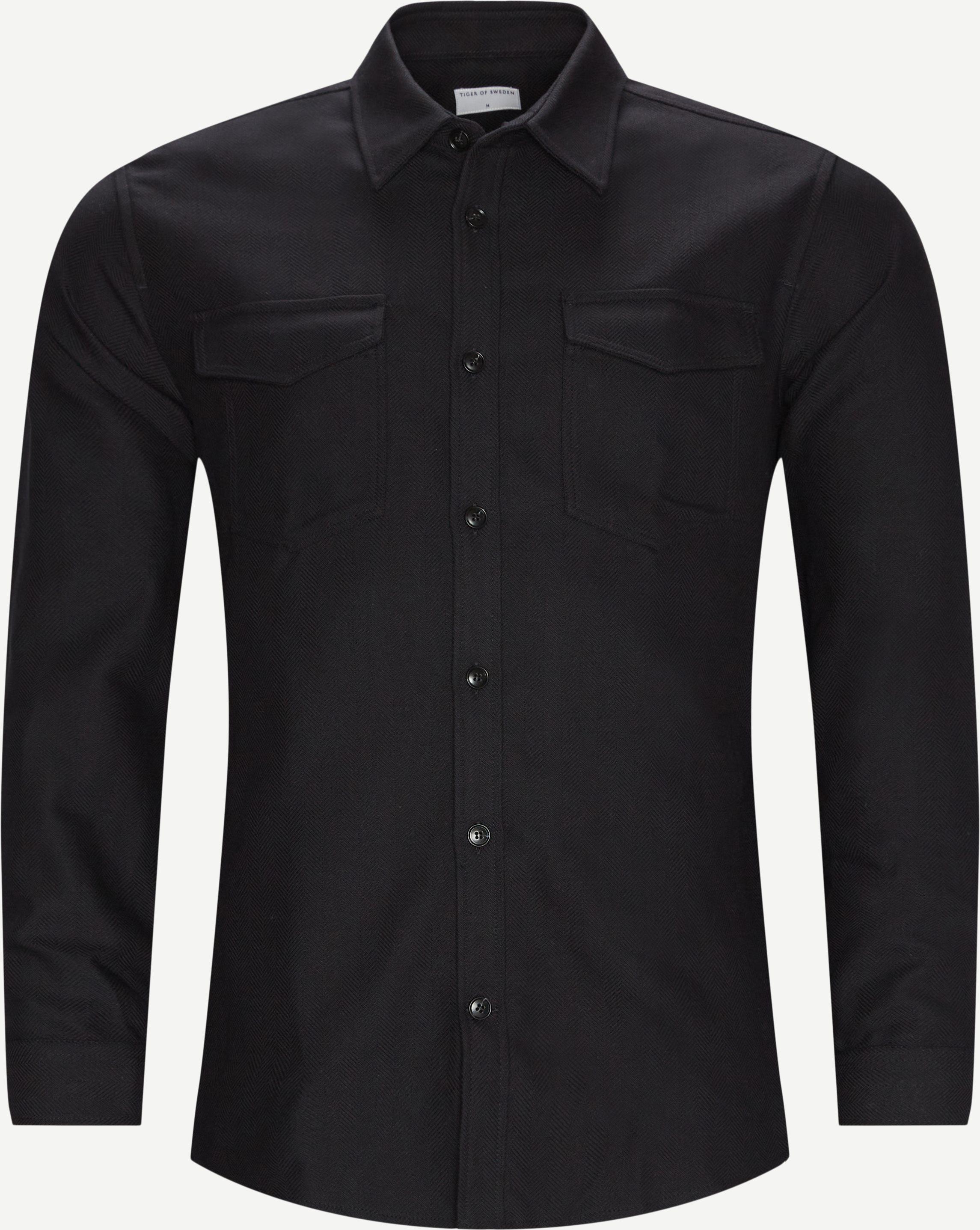 69391 Arnou Overshirt - Overshirts - Regular fit - Sort