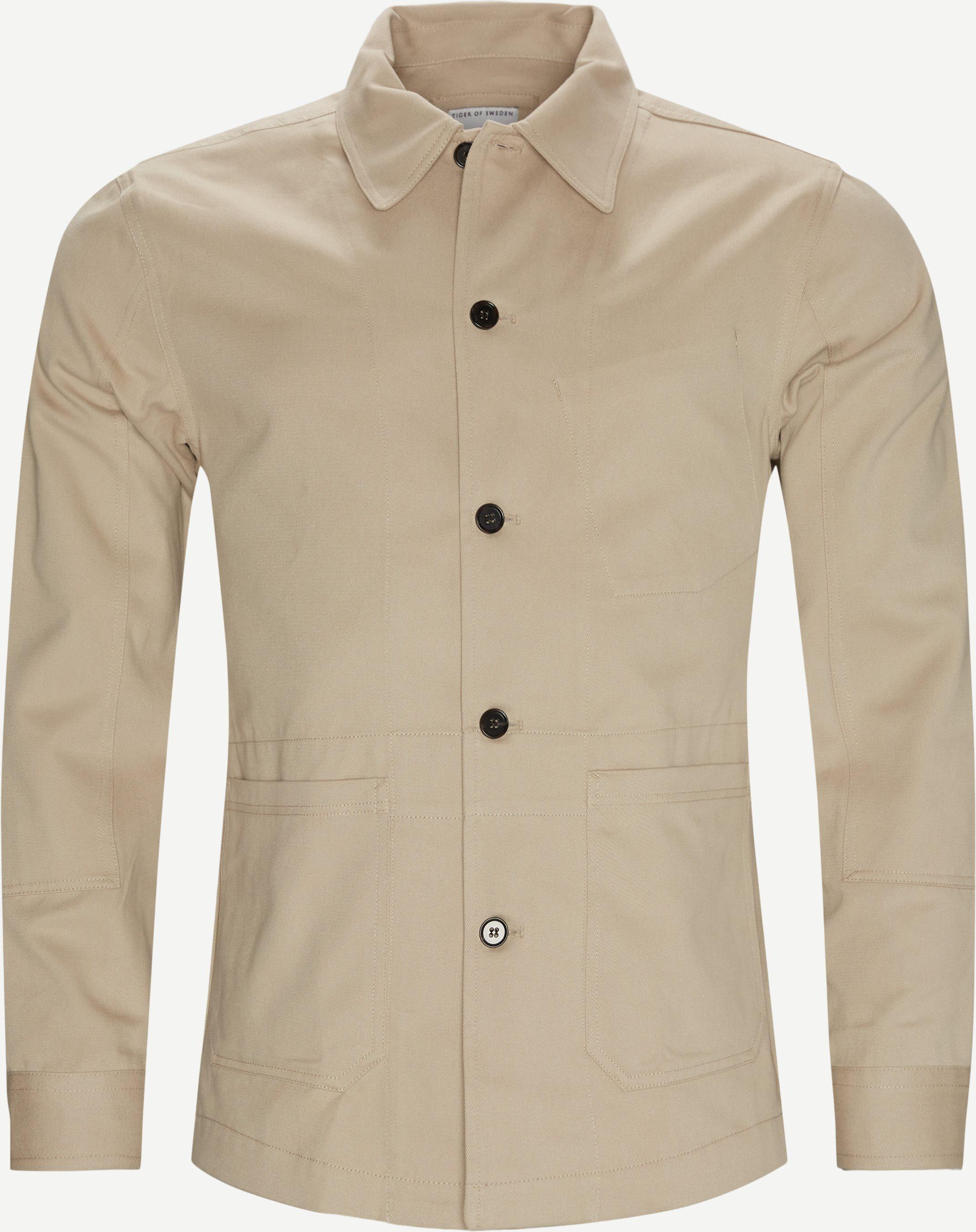 70133 Adur Overshirt - Overshirts - Regular fit - Sand