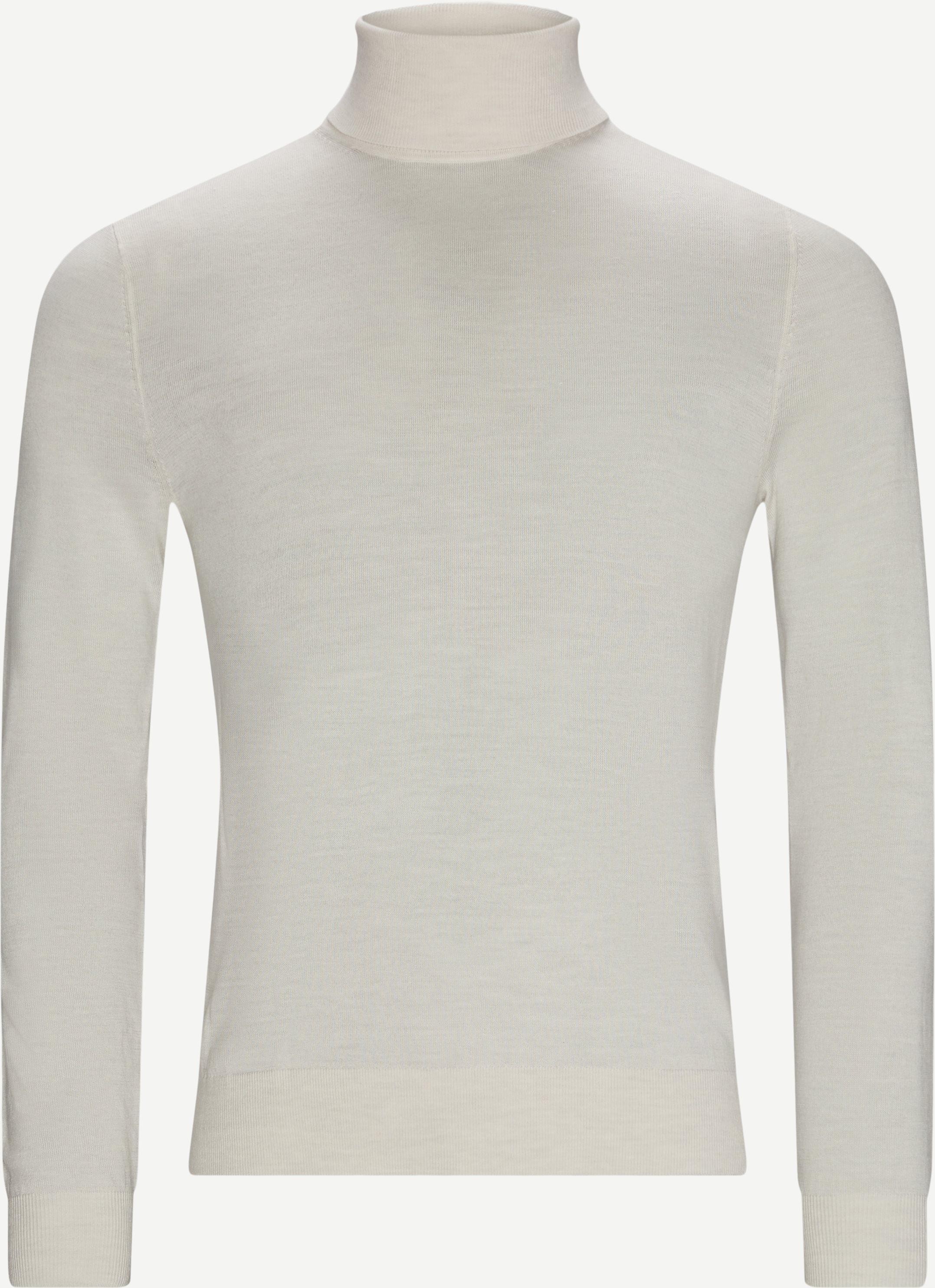 Knitwear - Slim fit - Sand