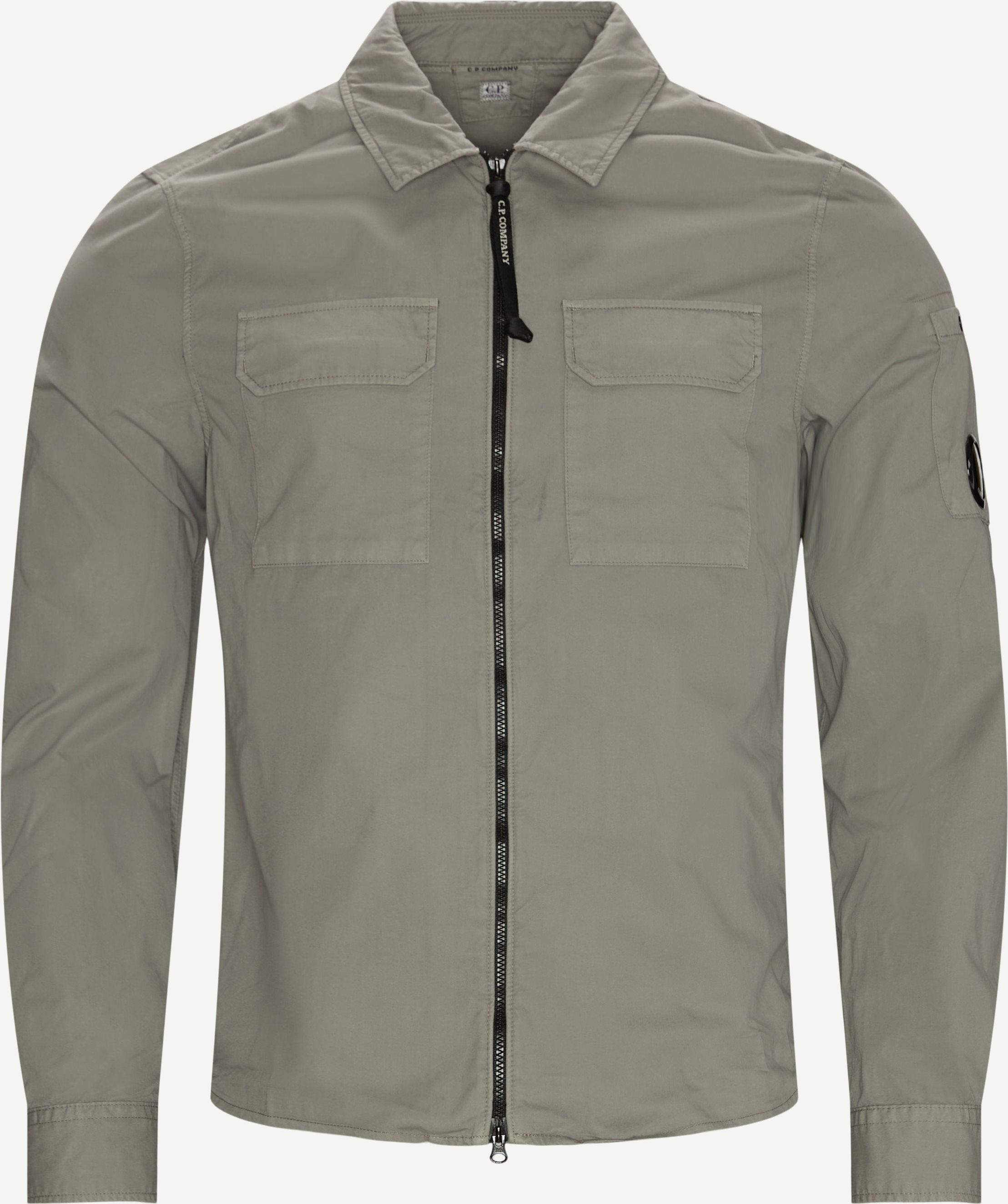 Gabardine Shirt - Skjorter - Regular fit - Grå