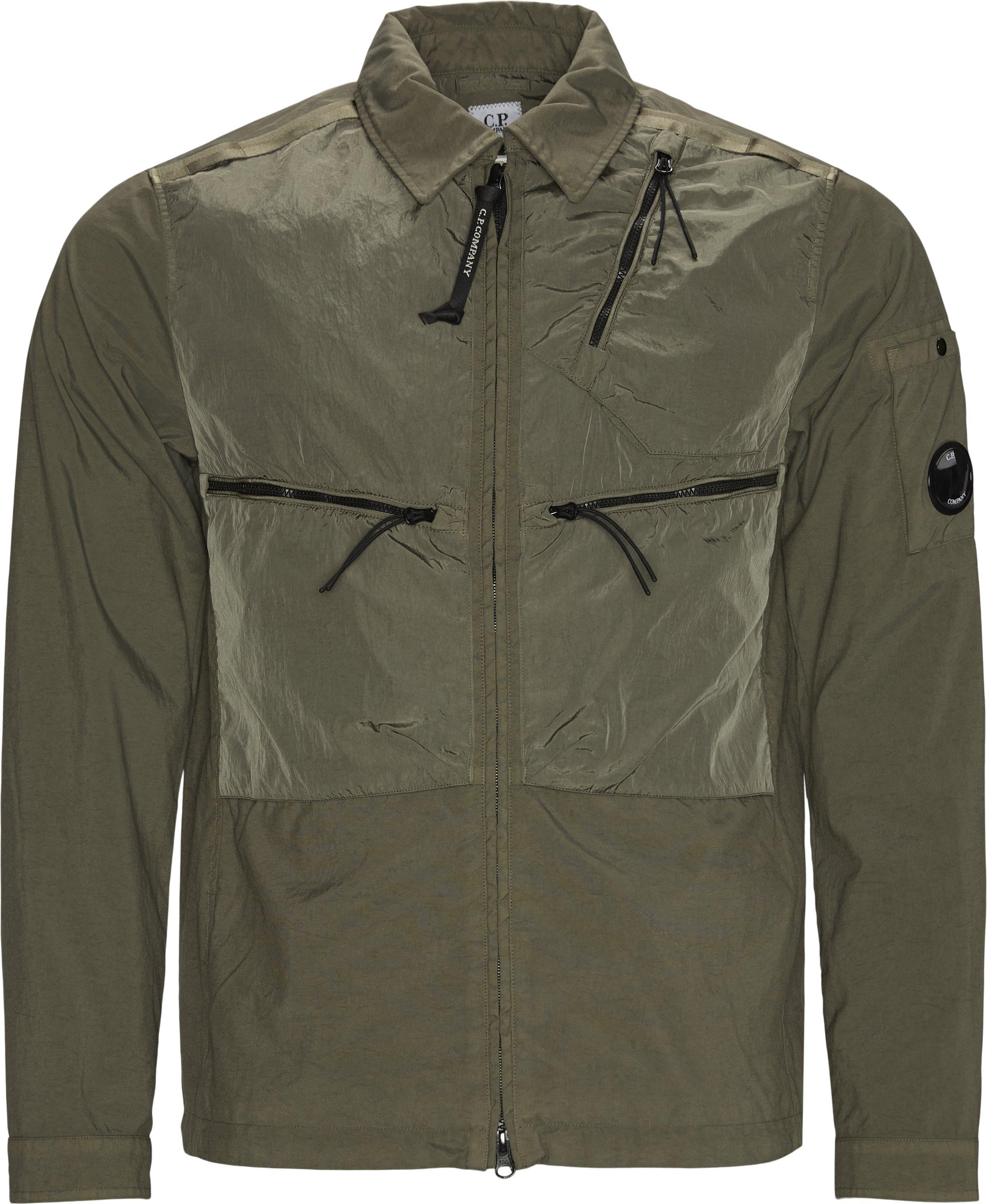 Taylon Mixed Overshirt - Skjorter - Regular fit - Army