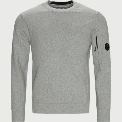 Crew Neck Diagonal Raised Sweatshirt Regular fit | Crew Neck Diagonal Raised Sweatshirt | Grå