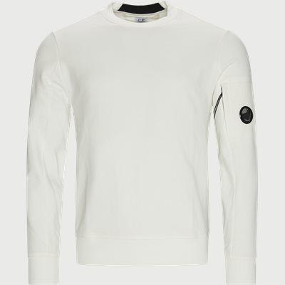 Crew Neck Diagonal Raised Sweatshirt Regular fit | Crew Neck Diagonal Raised Sweatshirt | Hvid