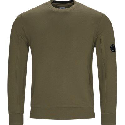 Crew Neck Diagonal Raised Sweatshirt Regular fit | Crew Neck Diagonal Raised Sweatshirt | Army