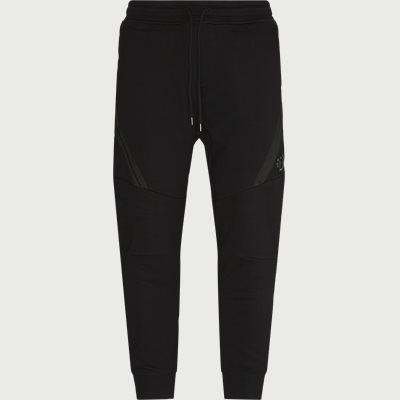 Diagonal Raised Fleece Sweatpants Regular fit | Diagonal Raised Fleece Sweatpants | Sort