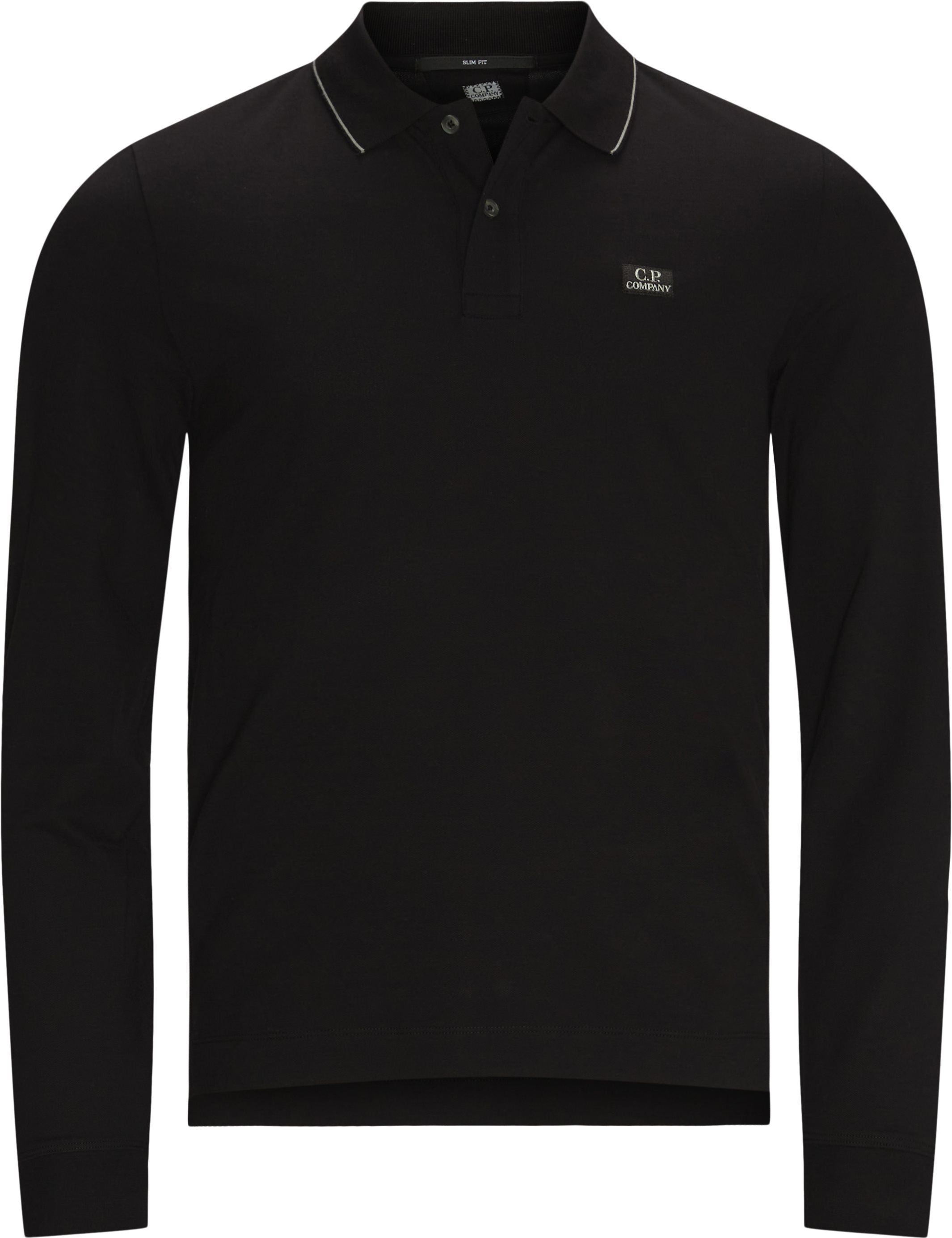 Long-sleeved t-shirts - Slim fit - Black
