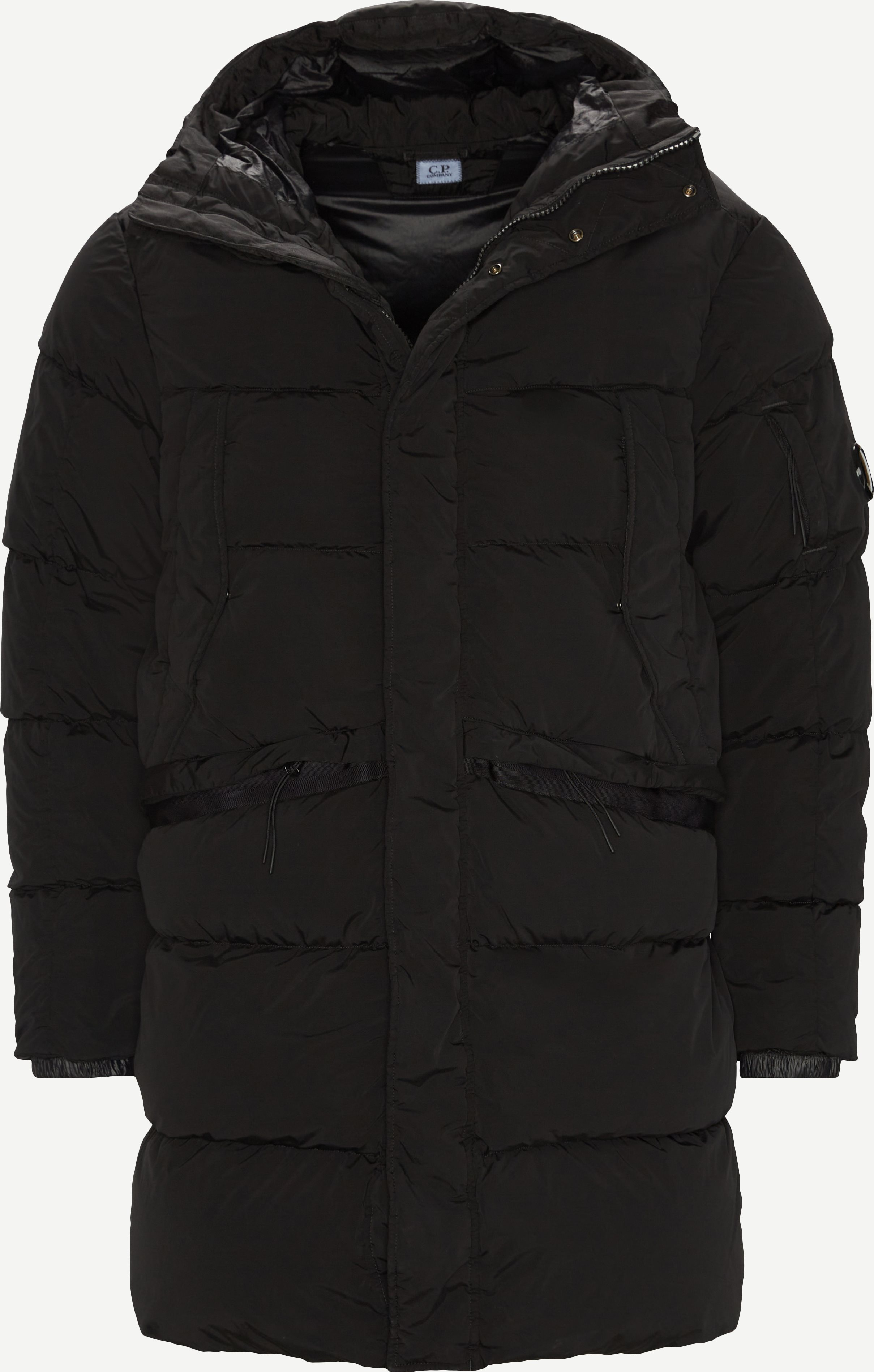 Long Down Jacket - Jakker - Regular fit - Sort