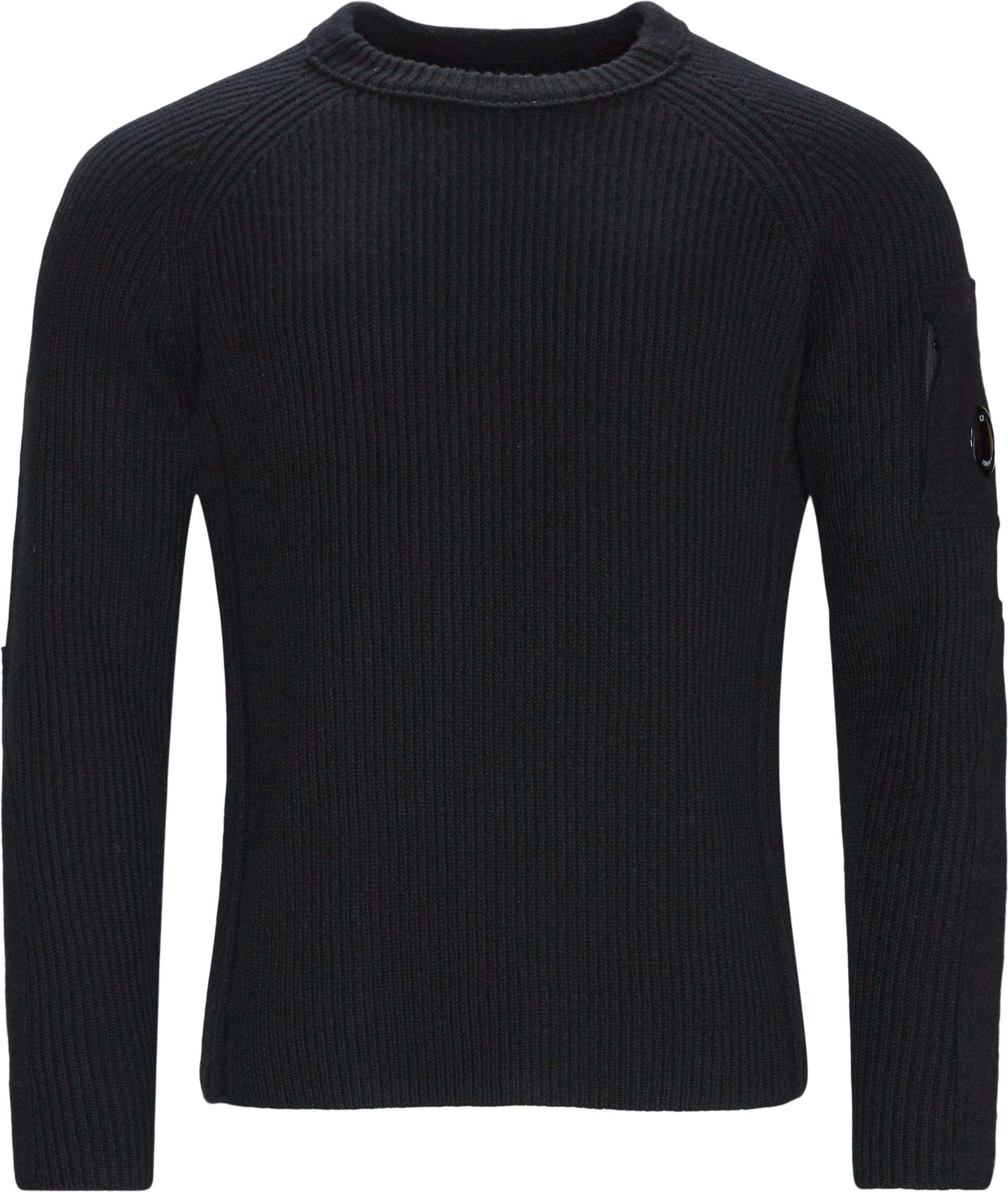 Knitted Sweatshirt - Strik - Regular fit - Sort