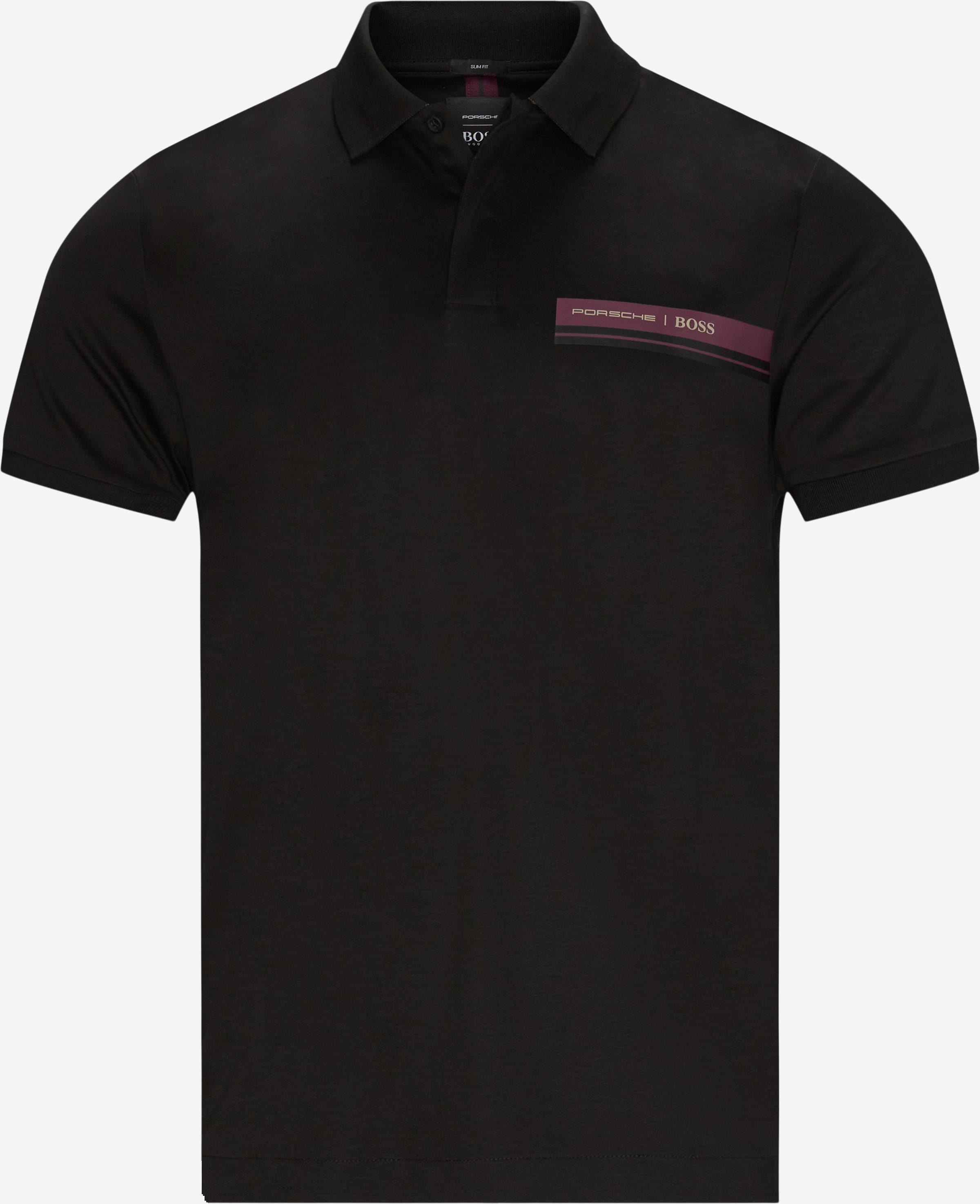 T-shirts - Slim fit - Svart