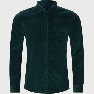Riou Fløjelsskjorte Regular fit   Riou Fløjelsskjorte   Grøn