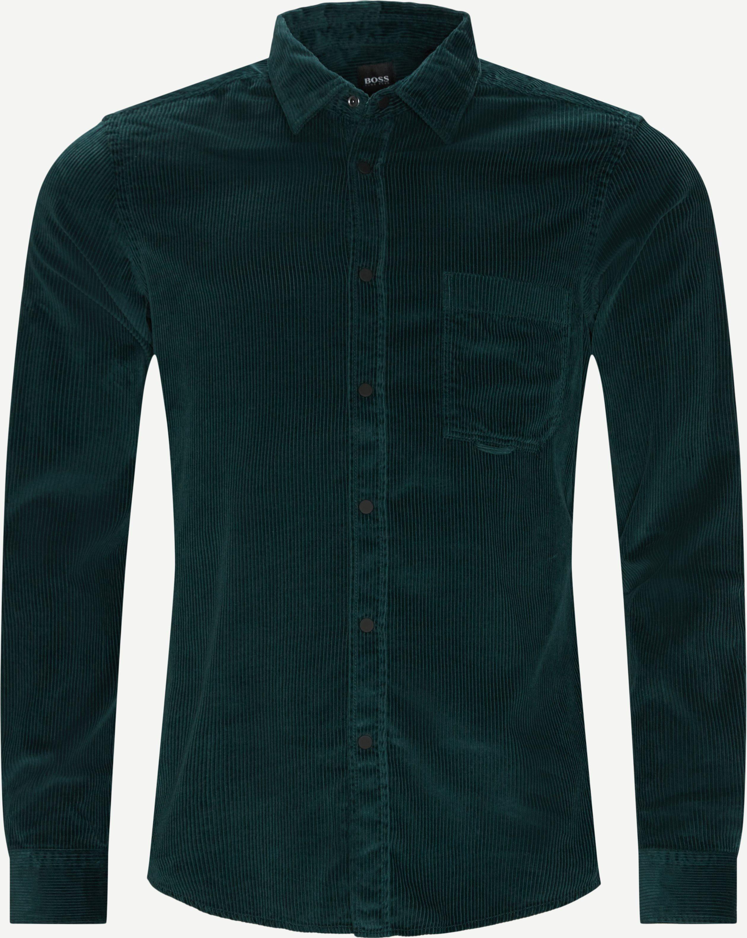 Riou Fløjelsskjorte - Skjorter - Regular fit - Grøn