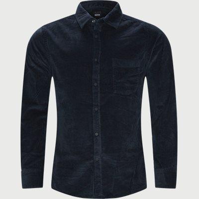 Riou Fløjelsskjorte Regular fit | Riou Fløjelsskjorte | Blå