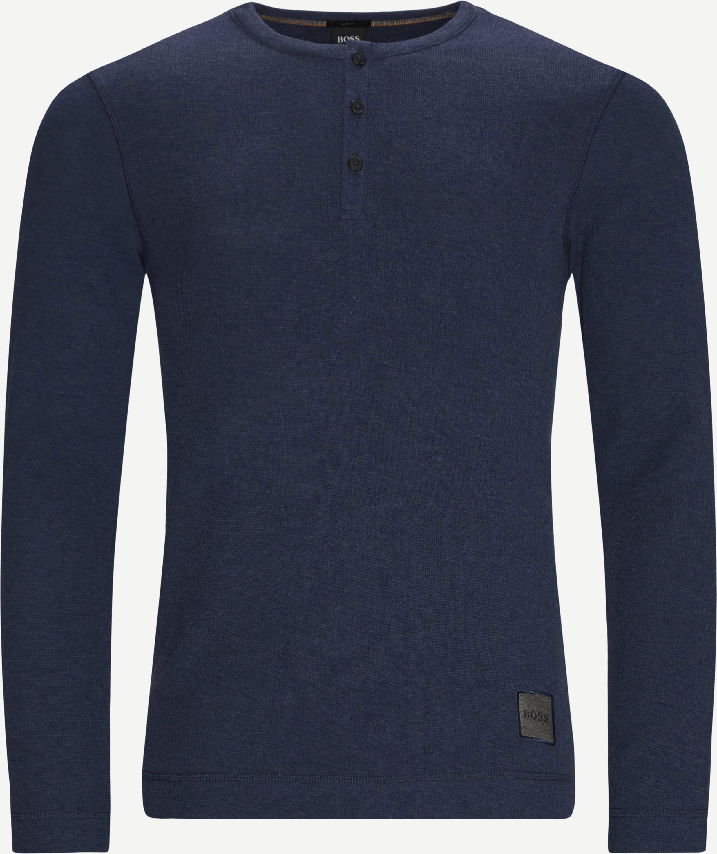 T-Shirts - Slim fit - Jeans-Blau