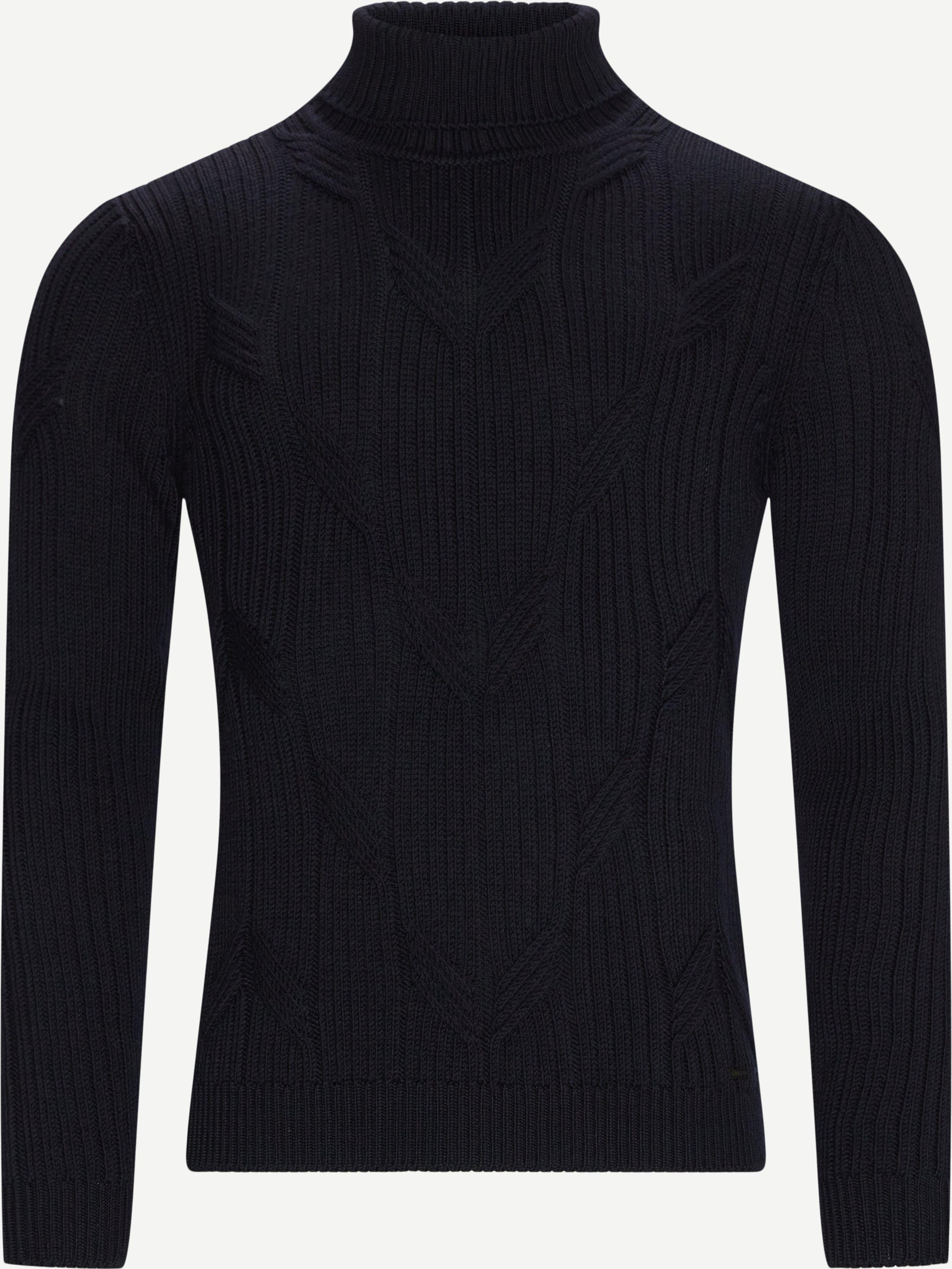 Knitwear - Slim fit - Blue