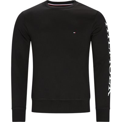 Logo Sleeve Crew Neck Sweatshirt Regular fit | Logo Sleeve Crew Neck Sweatshirt | Sort