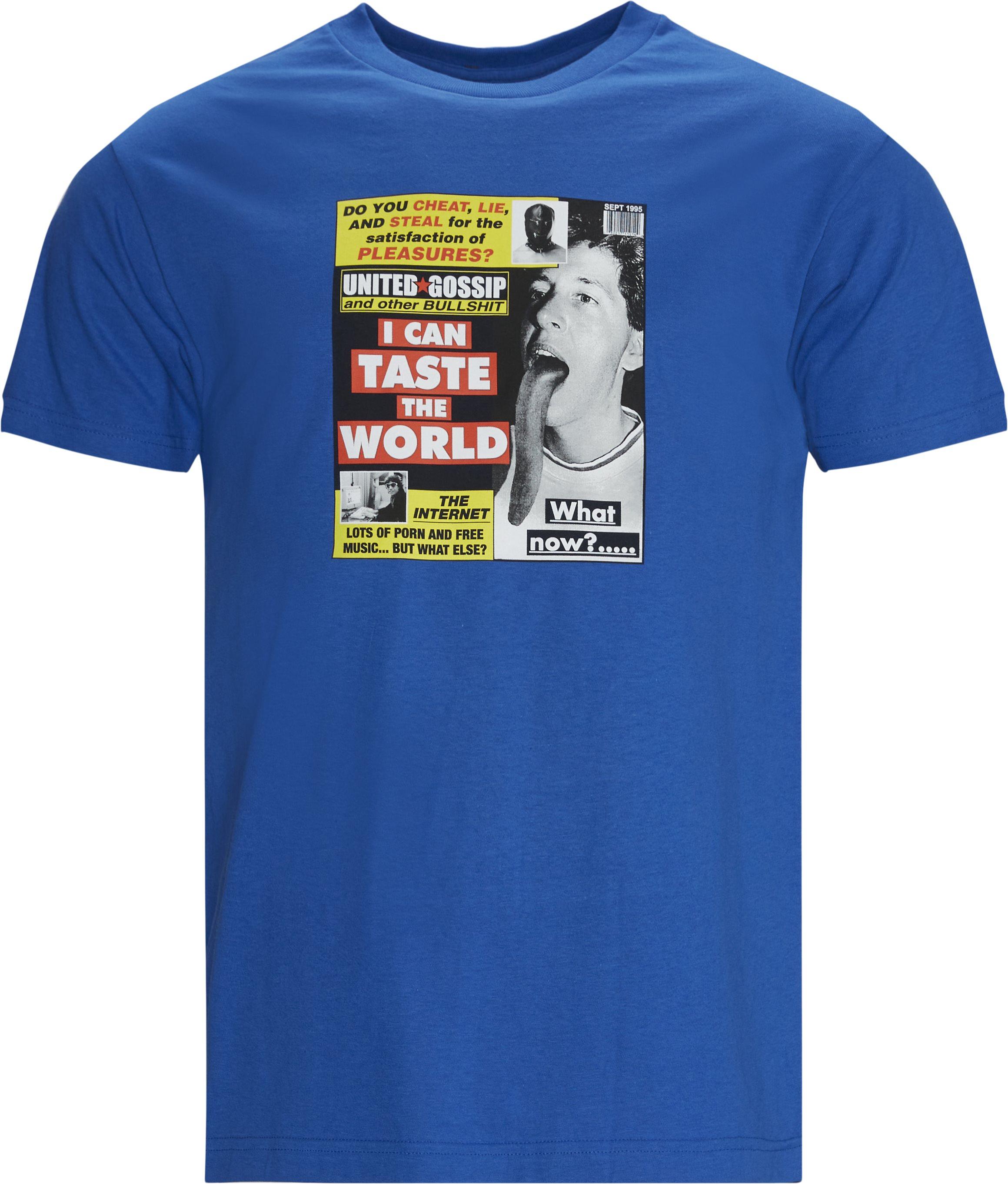 Gossip Tee - T-shirts - Regular fit - Blå
