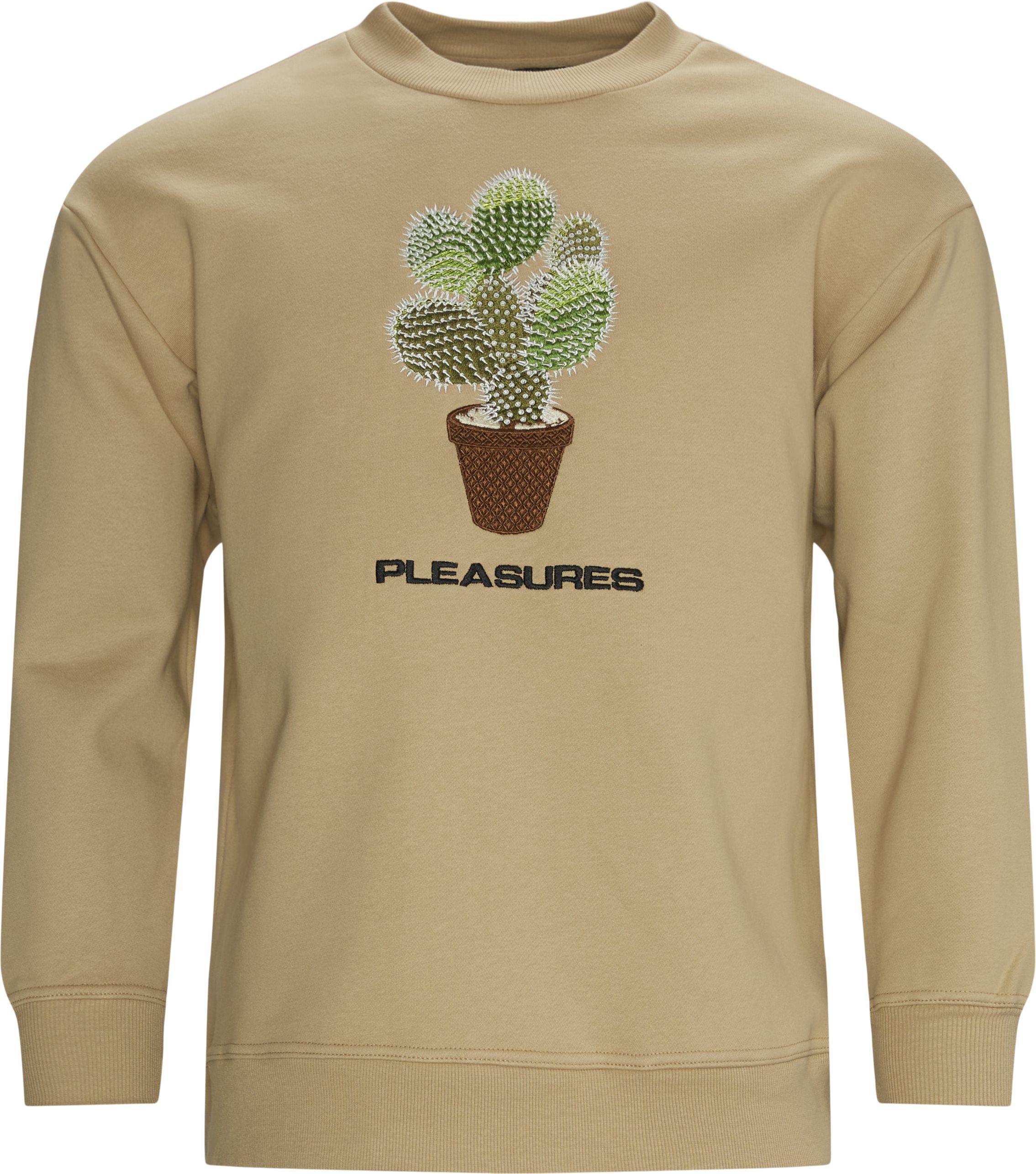 Spike Embroidered Crewneck - Sweatshirts - Regular fit - Sand