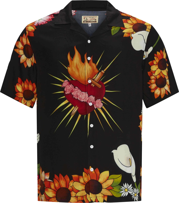 Heart Button Down Shirt - Skjorter - Regular fit - Sort