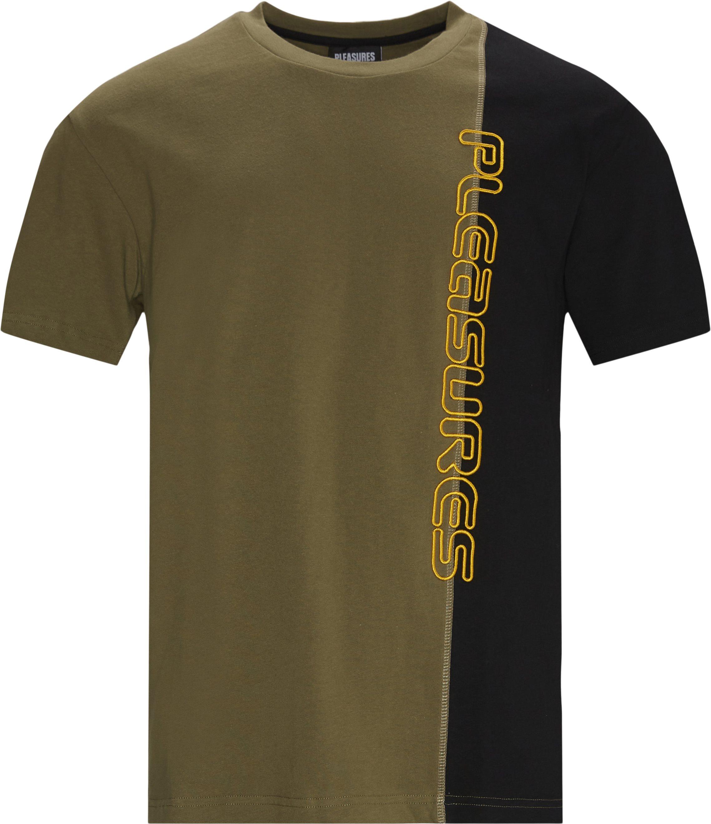 Reality Split Tee - T-shirts - Regular fit - Sort