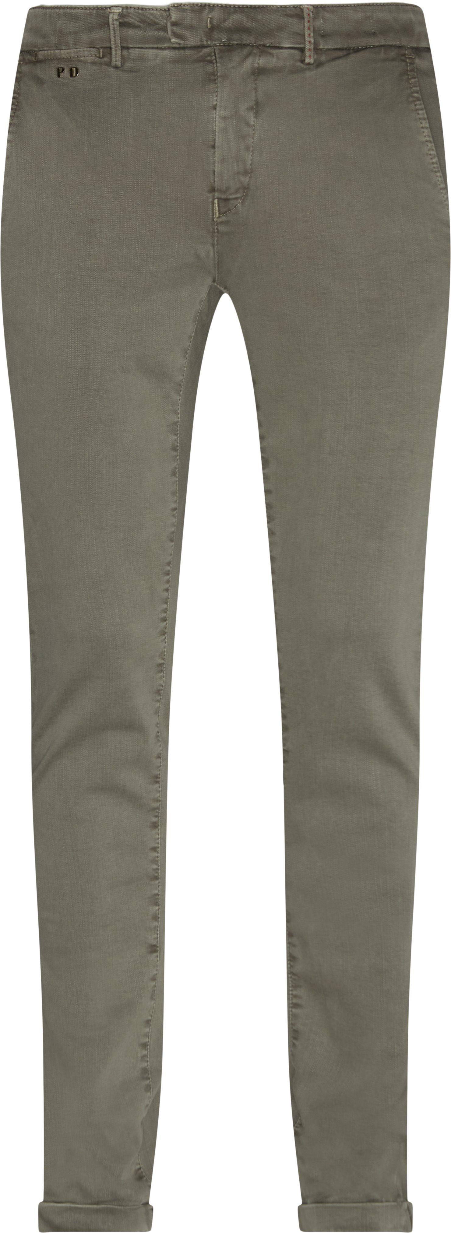 Trousers - Slim fit - Grey